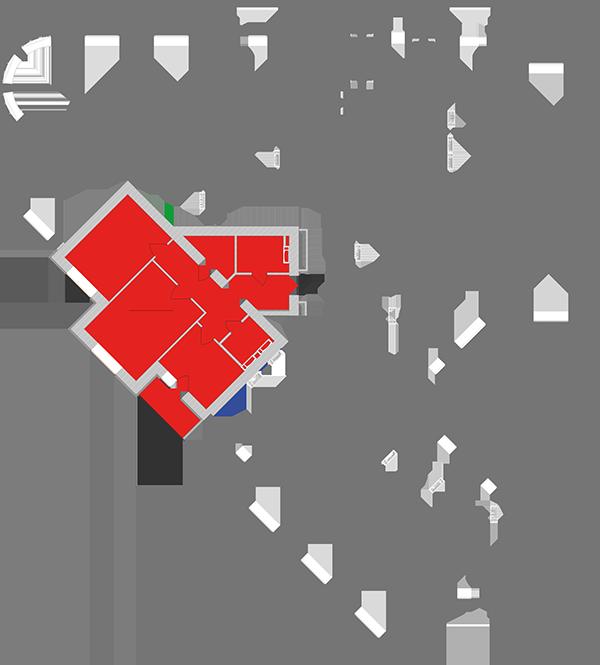 Двокімнатна квартира 70,13 кв.м., тип 2.6, будинок 1, секція 1 розташування на поверсі