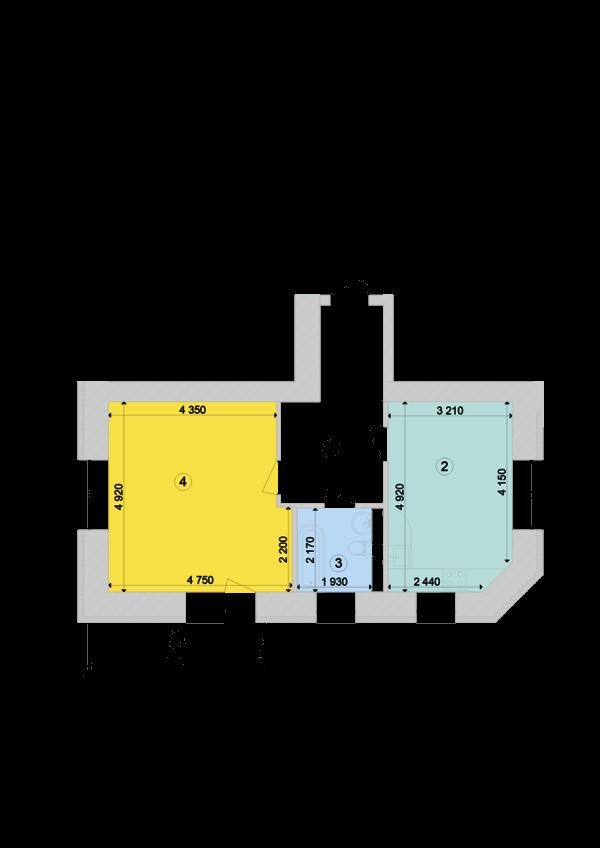 Купить Однокомнатная квартира 53,76 кв.м., тип 1.1, дом 1, секция 7 в Киеве Голосеевский район
