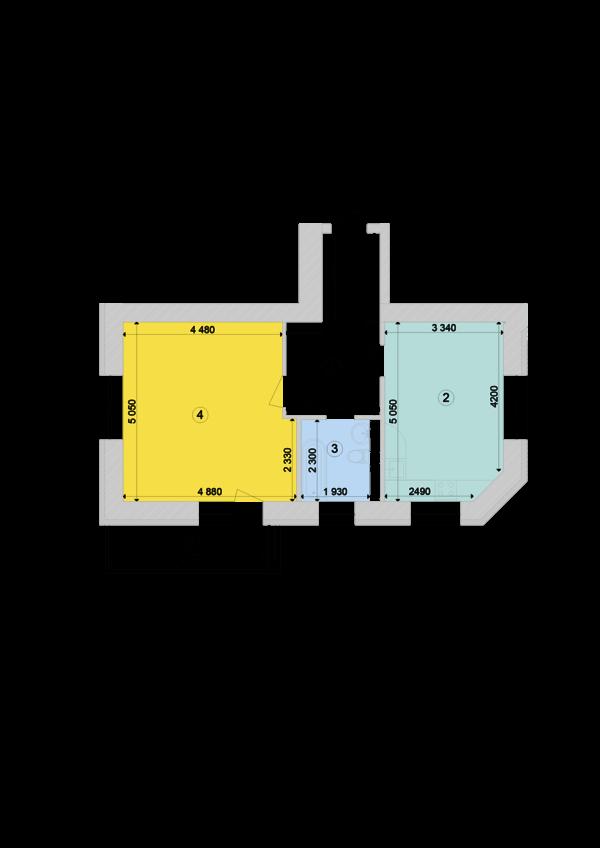 Купить Однокомнатная квартира 56,19 кв.м., тип 1.2, дом 1, секция 7 в Киеве Голосеевский район