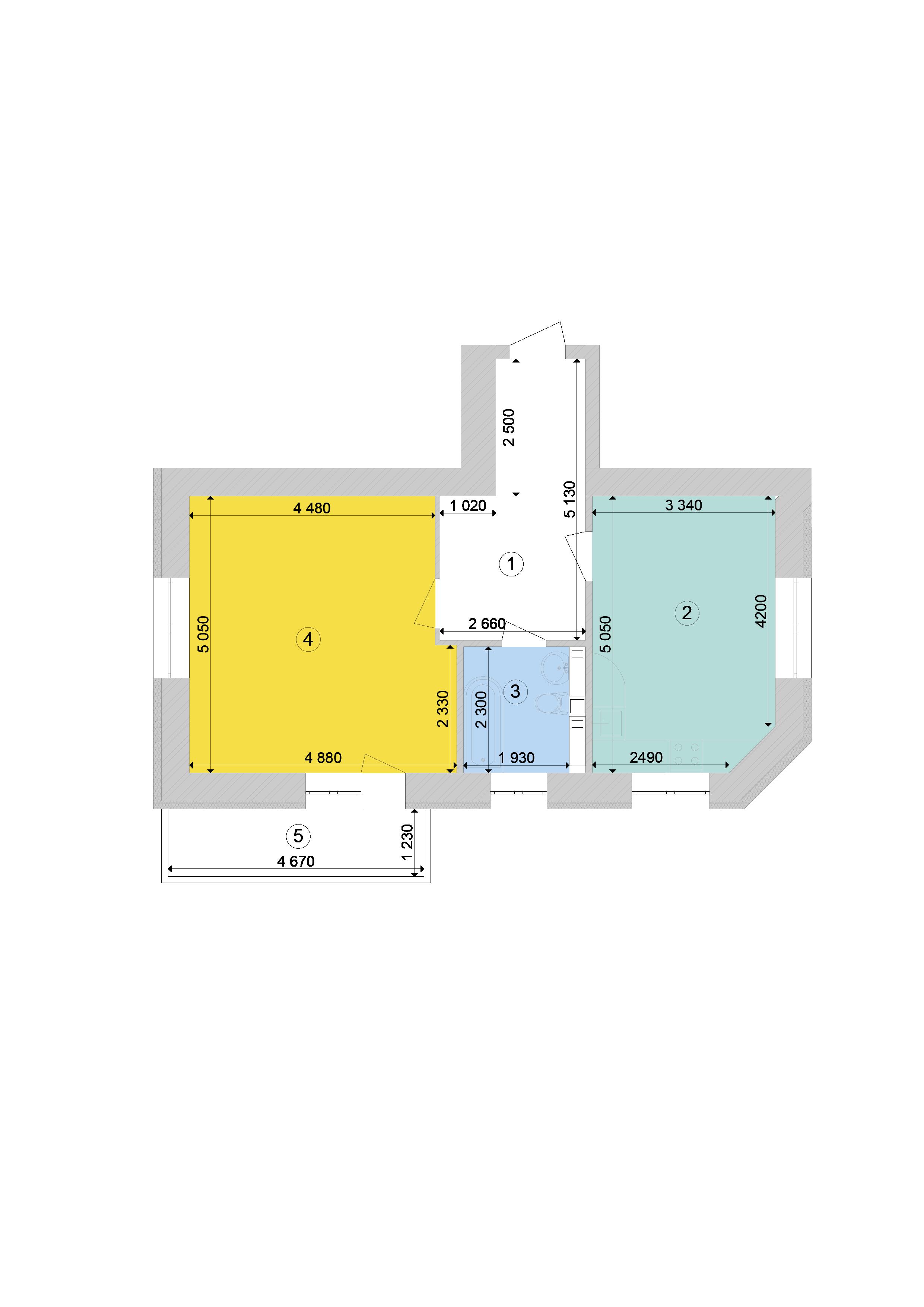 Купити Однокімнатна квартира 56,19 кв.м., тип 1.2, будинок 1, секція 7 в Києві Голосіївський район