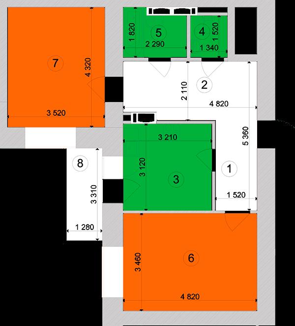 Купити Двокімнатна квартира 62,43 кв.м., тип 2.12, будинок 1, секція 3 в Києві Голосіївський район
