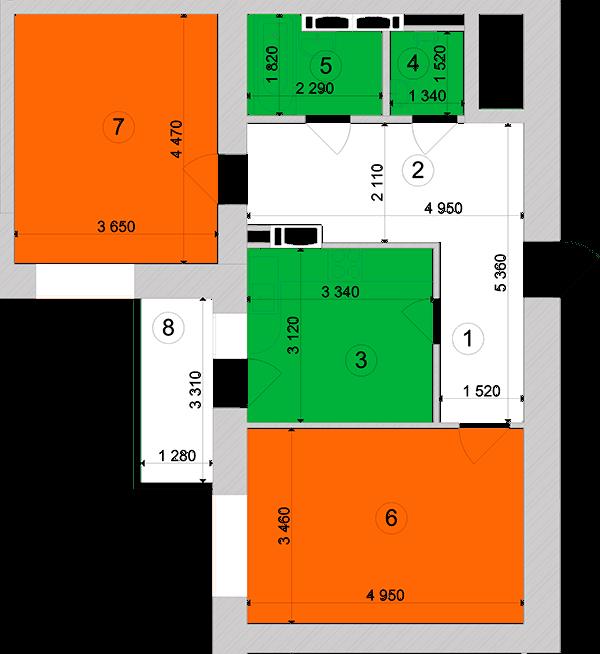 Купити Двокімнатна квартира 64,91 кв.м., тип 2.15, будинок 1, секція 3 в Києві Голосіївський район