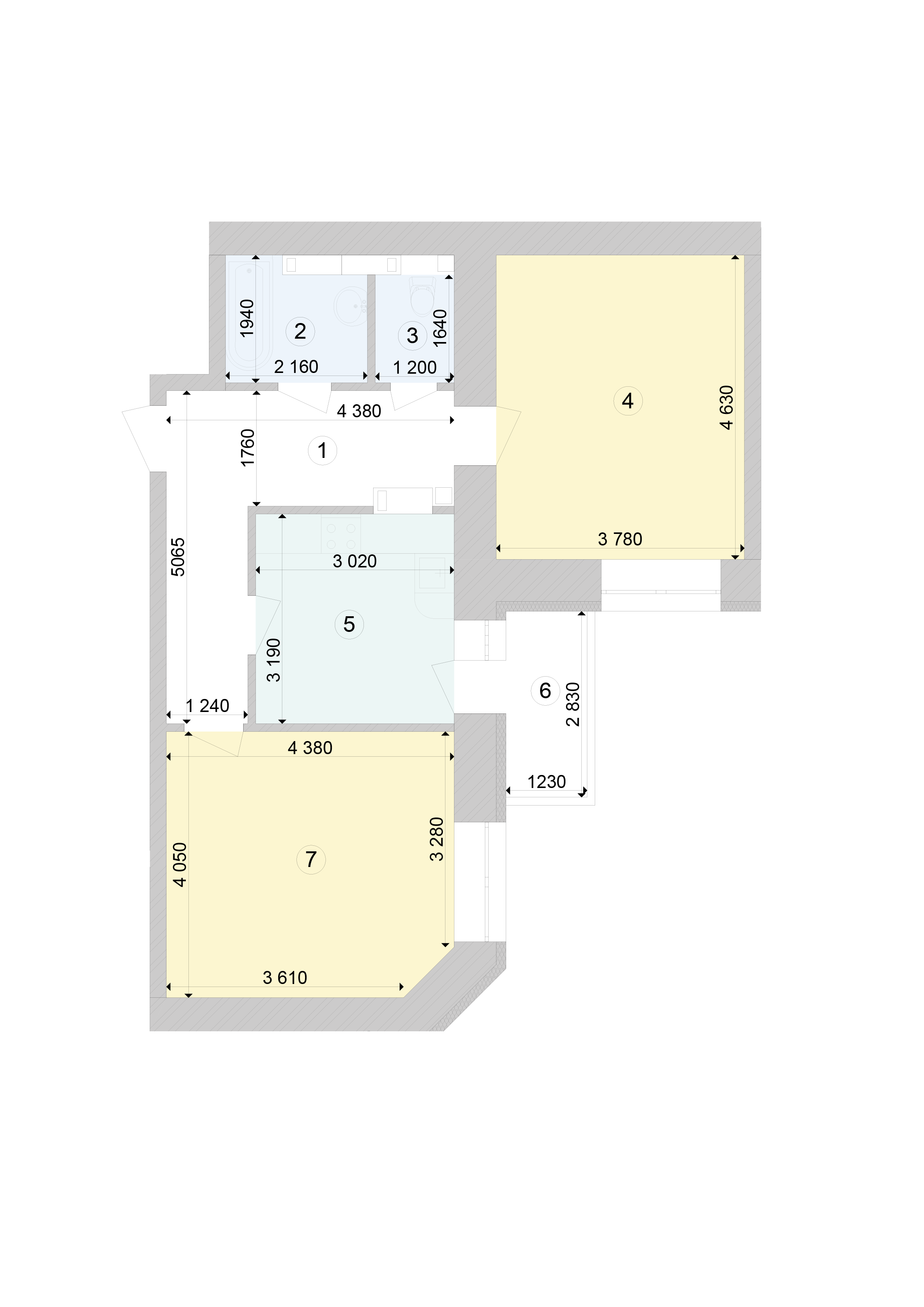 Купити Двокімнатна квартира 61,62 кв.м., тип 2.1, будинок 1, секція 7 в Києві Голосіївський район