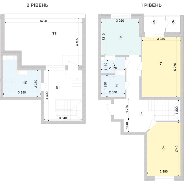 Купить Двухуровневая двухкомнатная квартира 93,65 кв.м., тип П1, дом 2, секция 2 в Киеве Голосеевский район