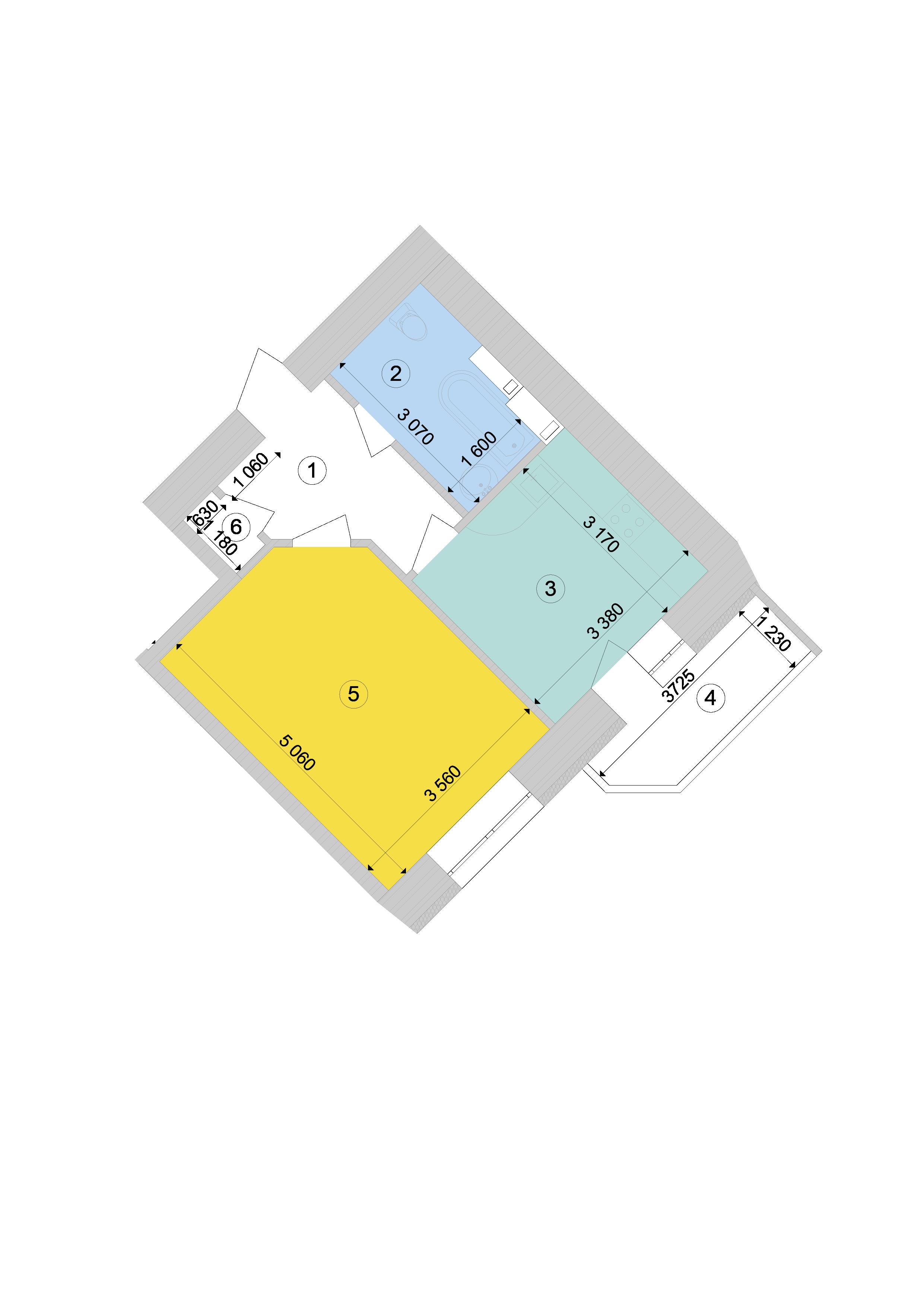 Купити Однокімнатна квартира 40,76 кв.м., тип 1.1, будинок 1, секція 9 в Києві Голосіївський район
