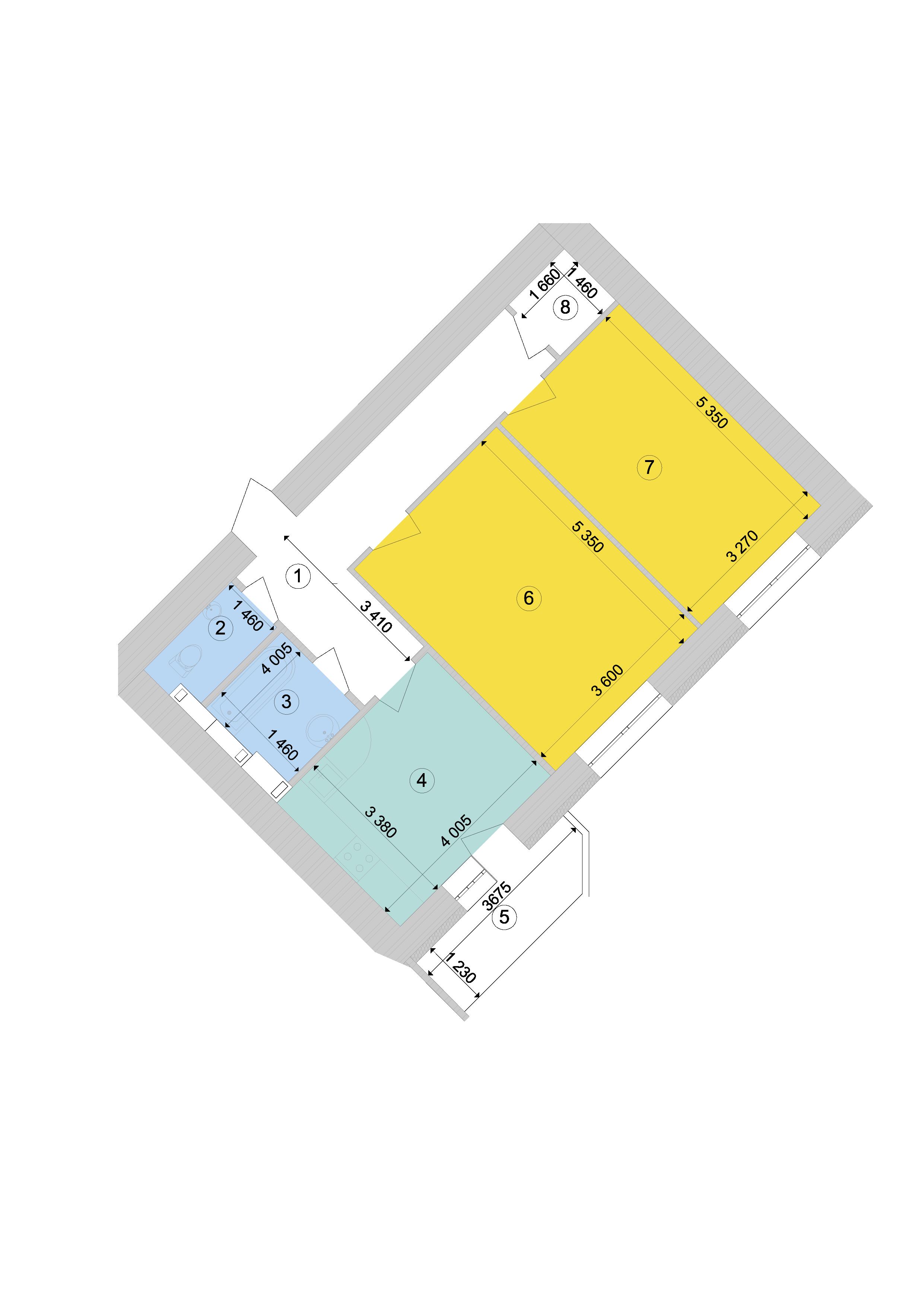 Купити Двокімнатна квартира 72,79 кв.м., тип 2.7, будинок 1, секція 9 в Києві Голосіївський район