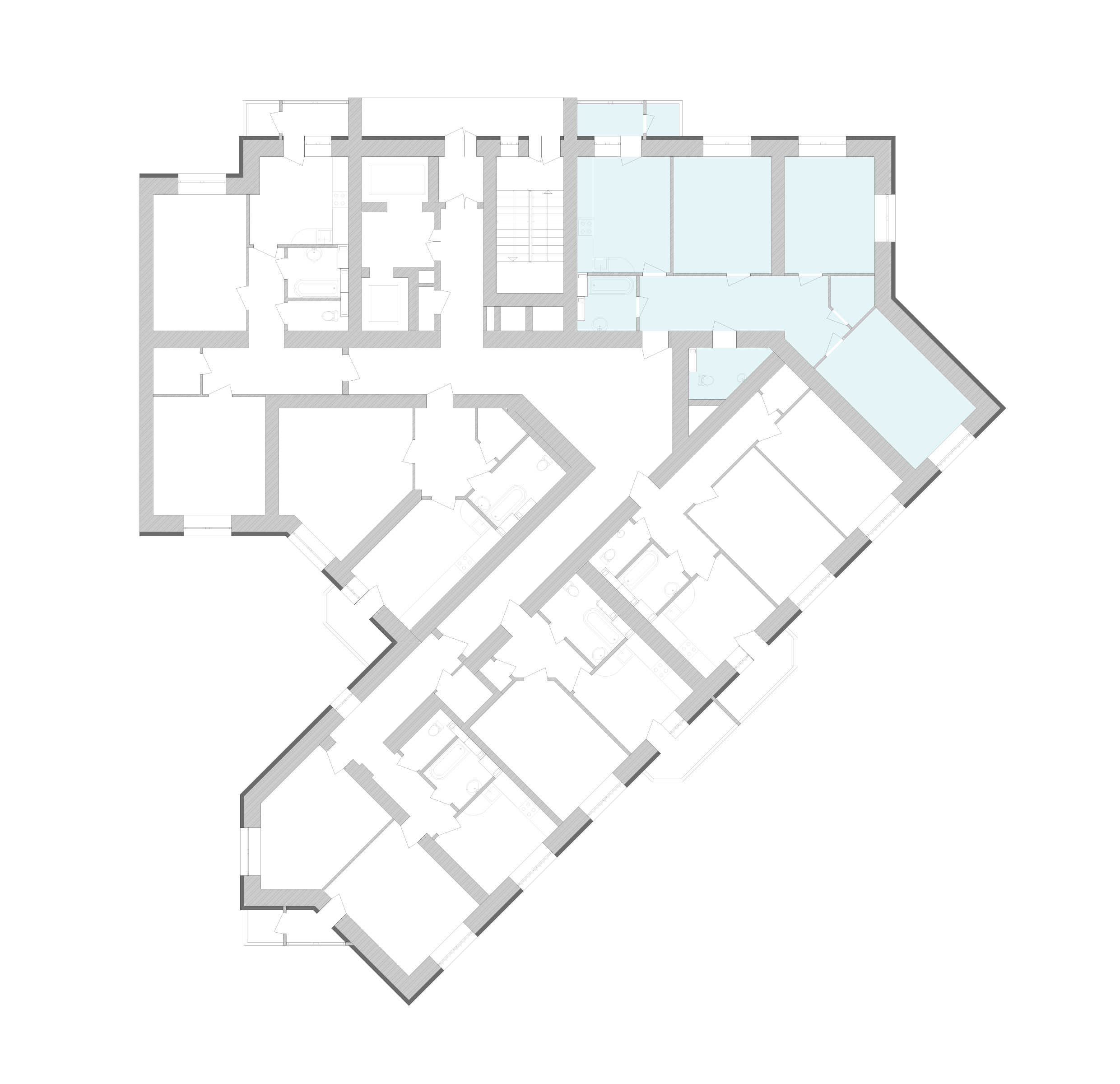 Трехкомнатная квартира 95,04 кв.м., тип 3.1, дом 1, секция 9 расположение на этаже