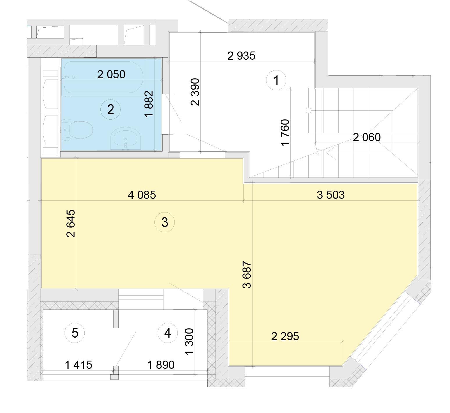 Купити Дворівнева квартира 80,7 кв.м., тип П2, будинок 2, секція 5 в Києві Голосіївський район