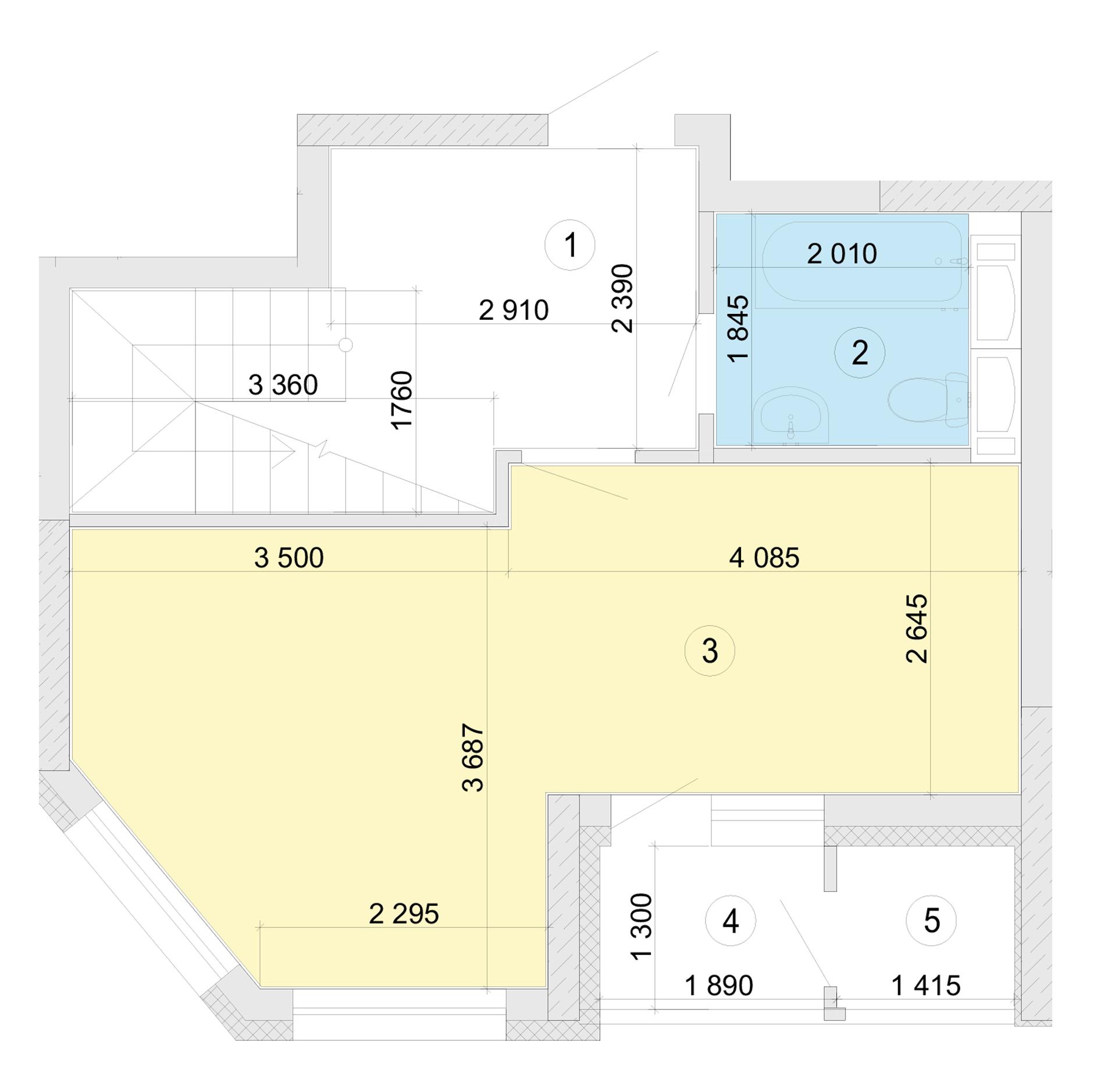 Купити Дворівнева квартира 80,54 кв.м., тип П3, будинок 2, секція 5 в Києві Голосіївський район