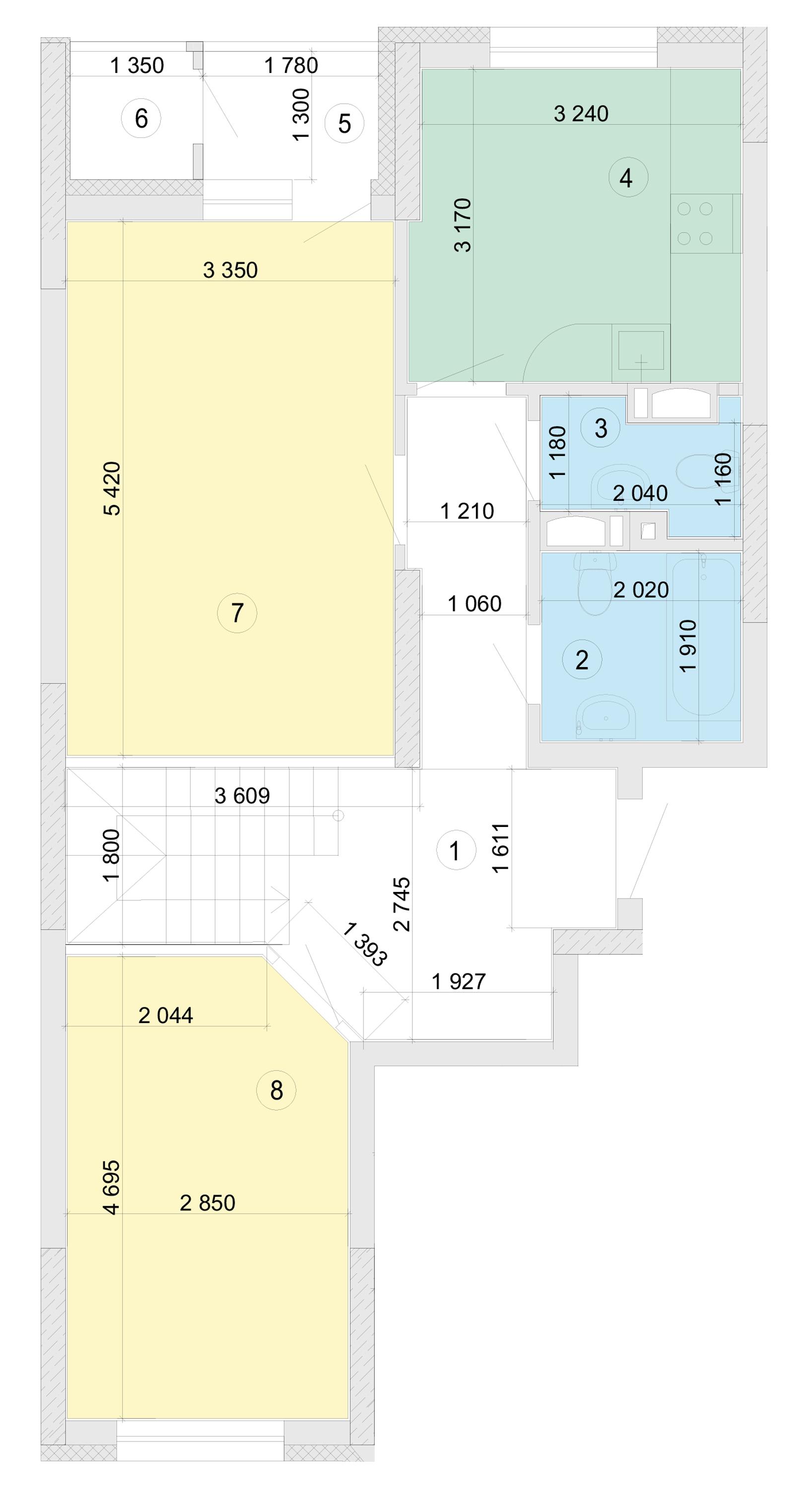 Купити Дворівнева квартира 87,7 кв.м., тип П4, будинок 2, секція 5 в Києві Голосіївський район