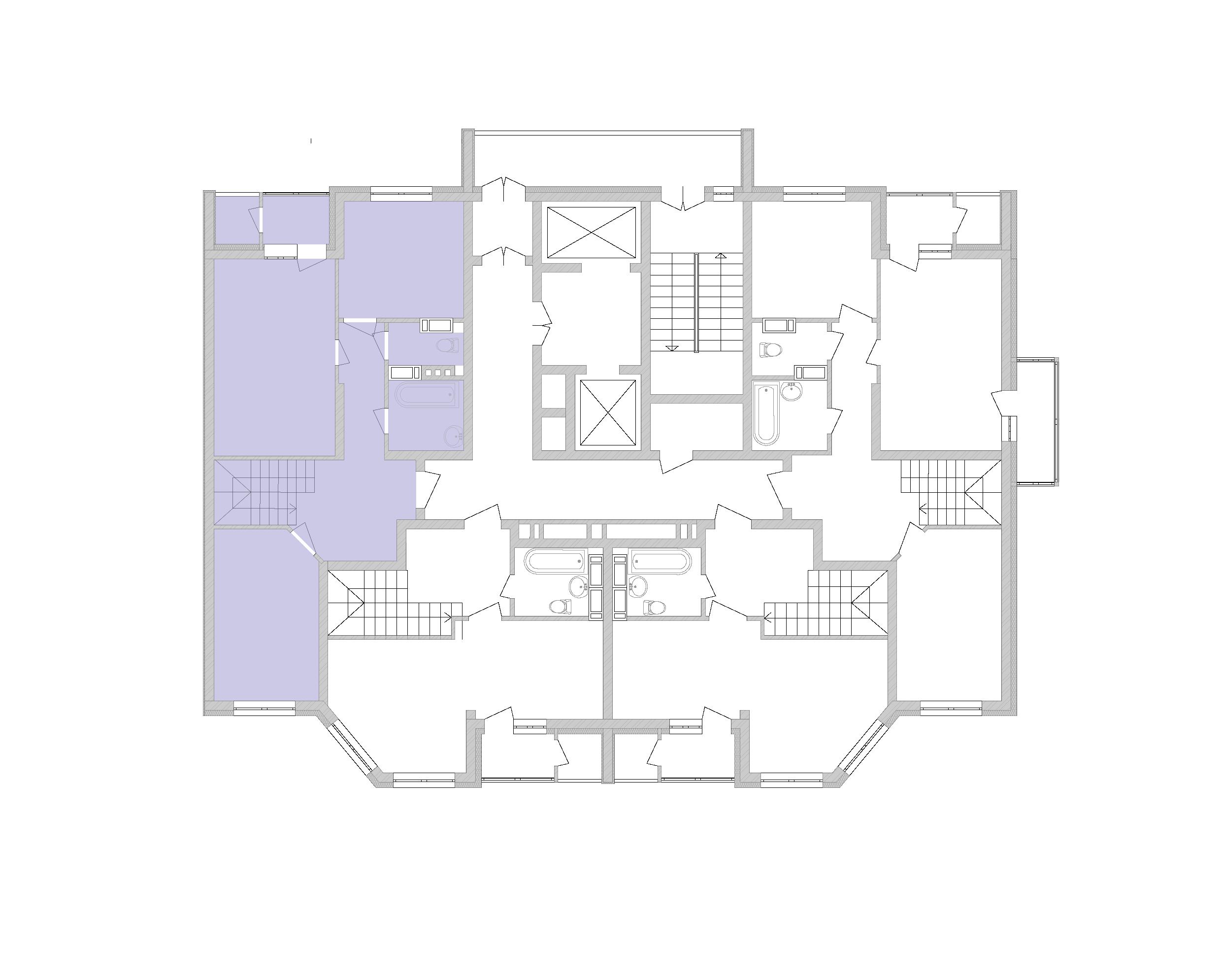 Дворівнева квартира 87,7 кв.м., тип П4, будинок 2, секція 5 розташування на поверсі