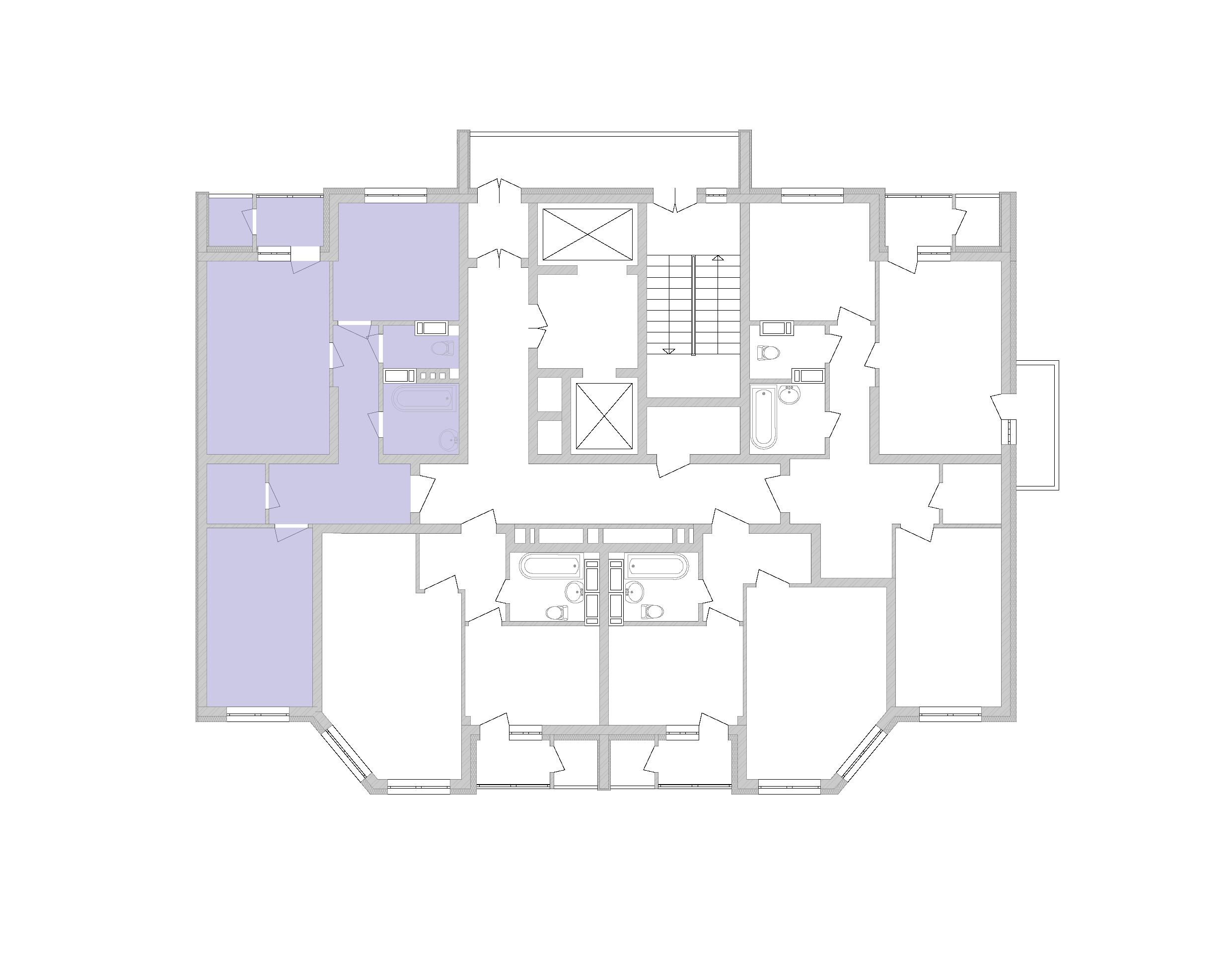 Двухкомнатная квартира 63,35 кв.м., тип 2.2, дом 2, секция 5 расположение на этаже