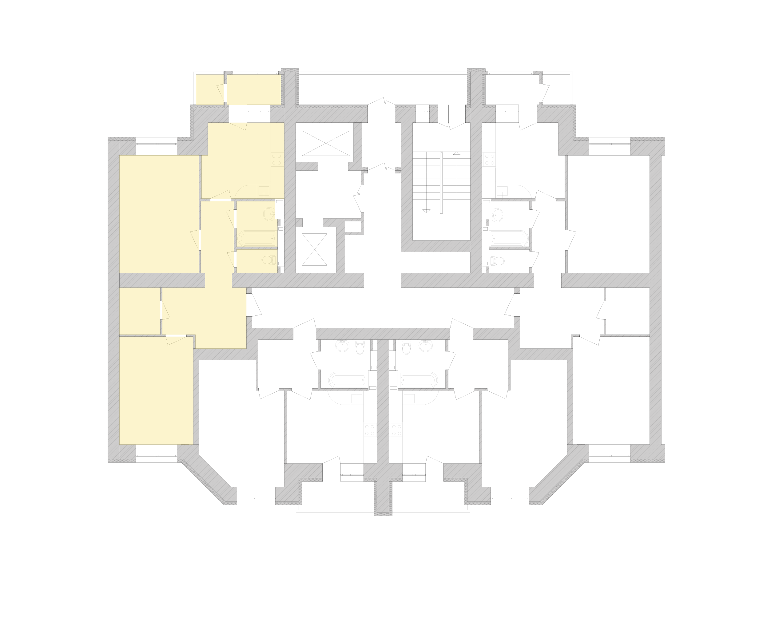 Двухкомнатная квартира 72,28 кв.м., тип 2.4, дом 1, секция 8 расположение на этаже