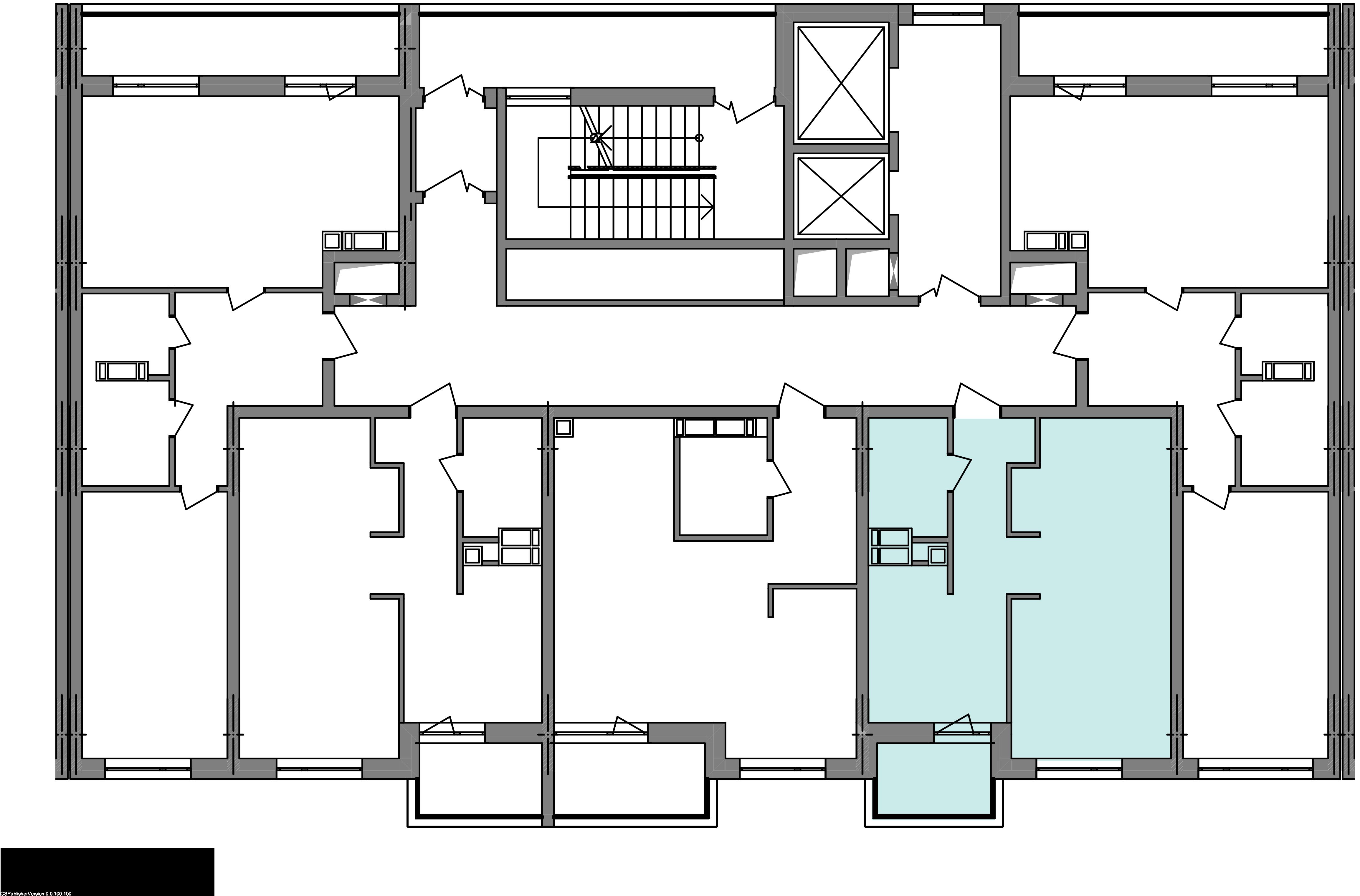 Однокімнатна квартира 40,83 кв.м., тип 1.1, будинок 3 секція 2 розташування на поверсі
