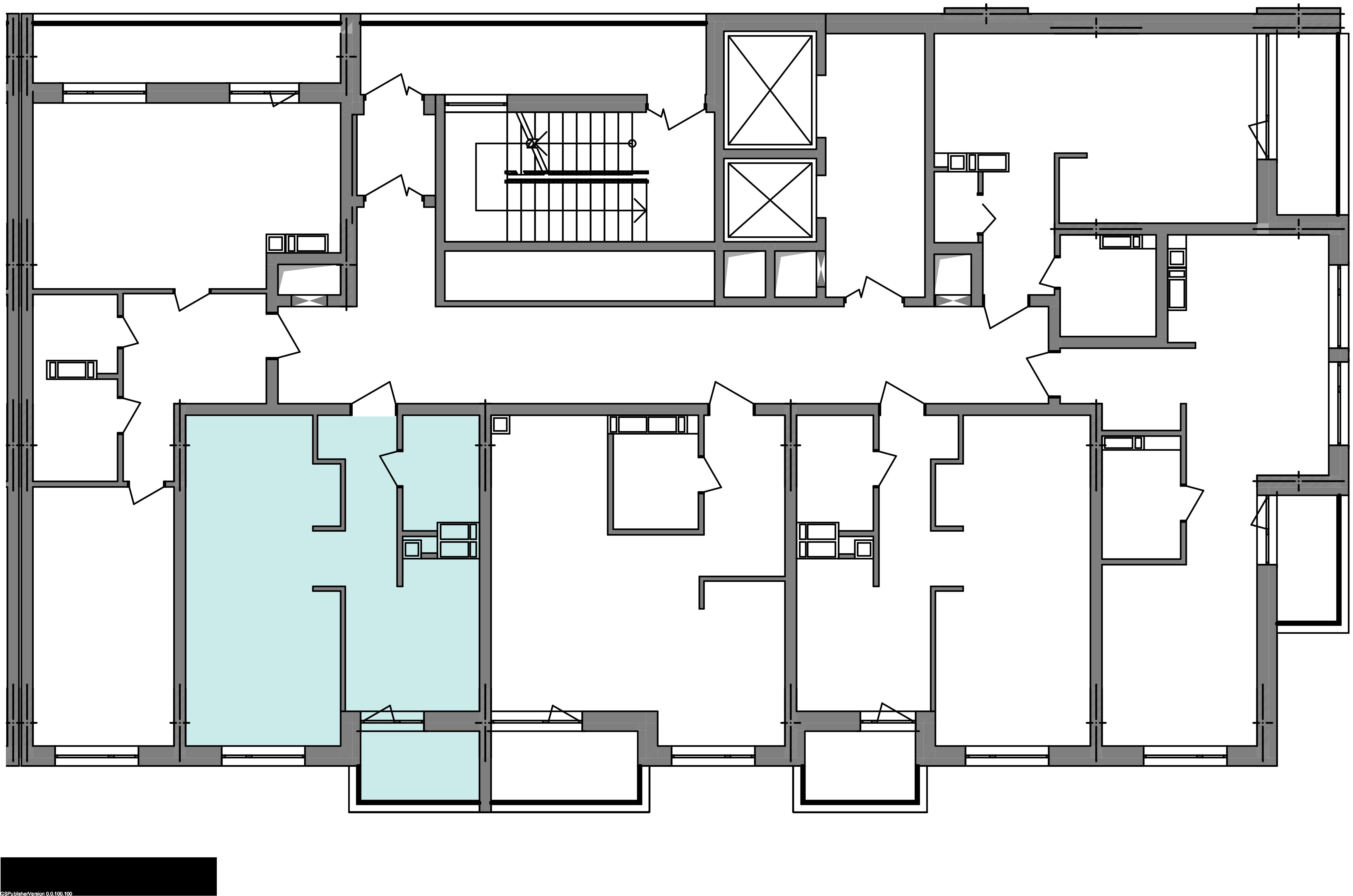 Однокомнатная квартира 40,50 кв.м., тип 1.10, дом 3 секция 3 расположение на этаже