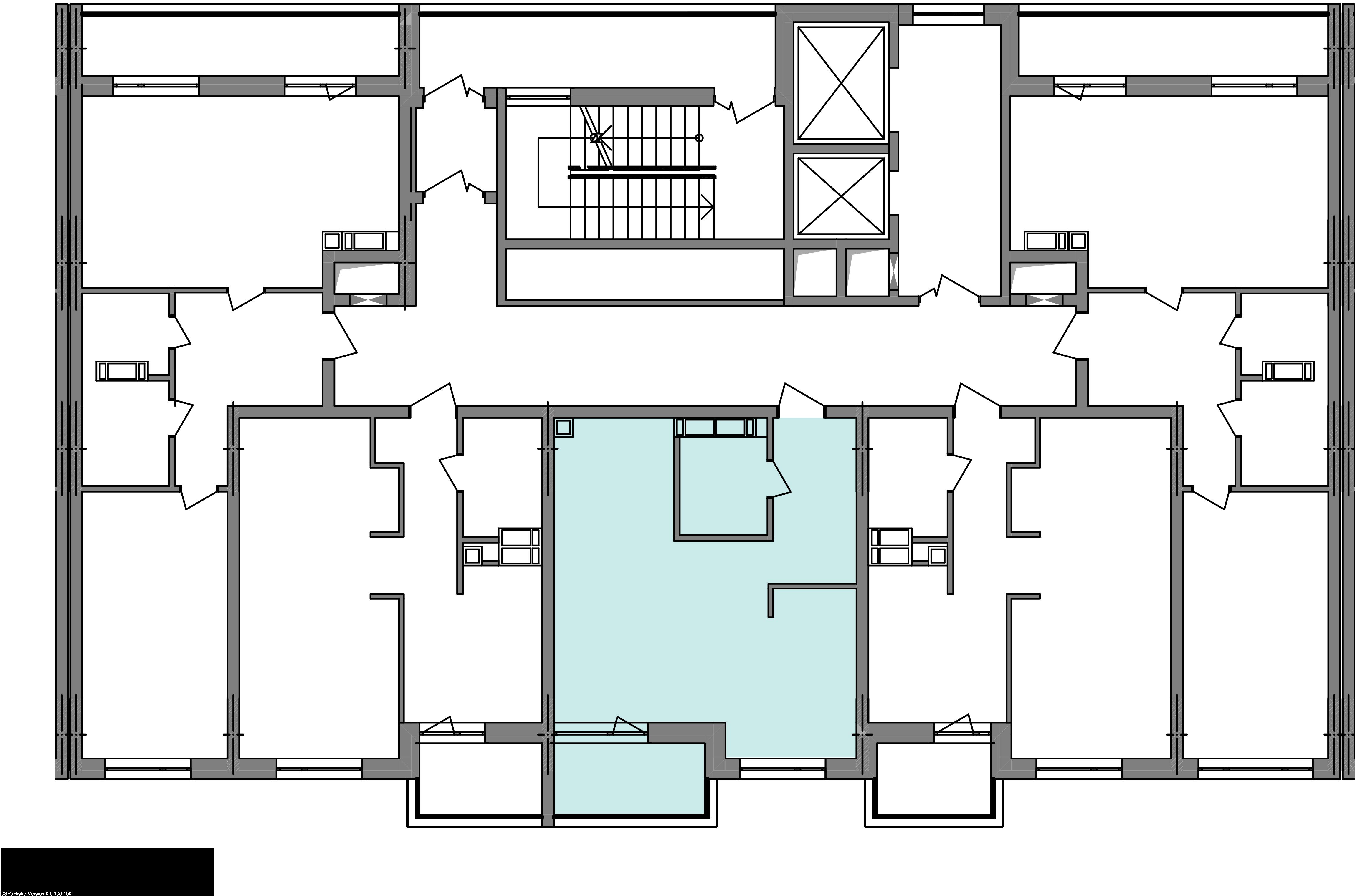 Однокомнатная квартира 41,21 кв.м., тип 1.2, дом 3 секція 2 расположение на этаже