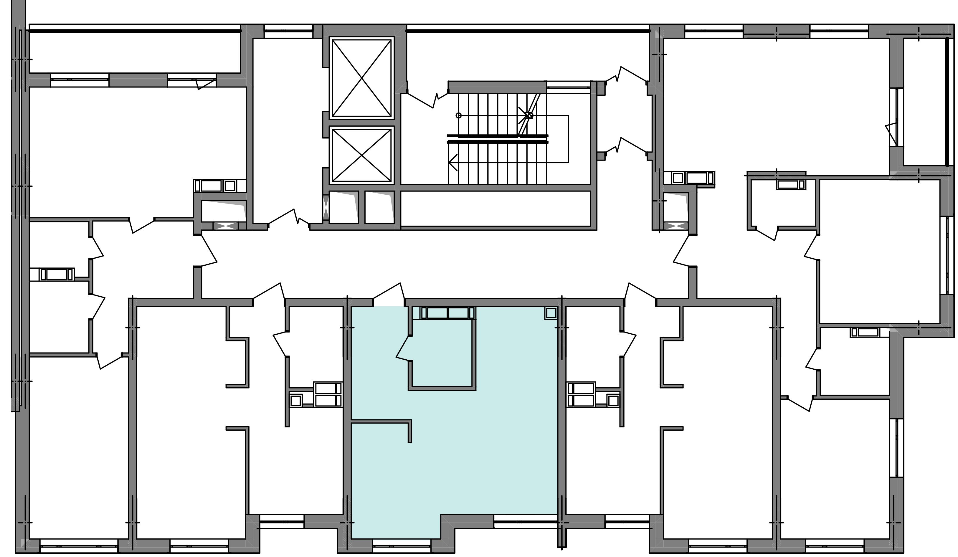 Однокомнатная квартира 39,71 кв.м., тип 1.2, дом 3 секция5 расположение на этаже