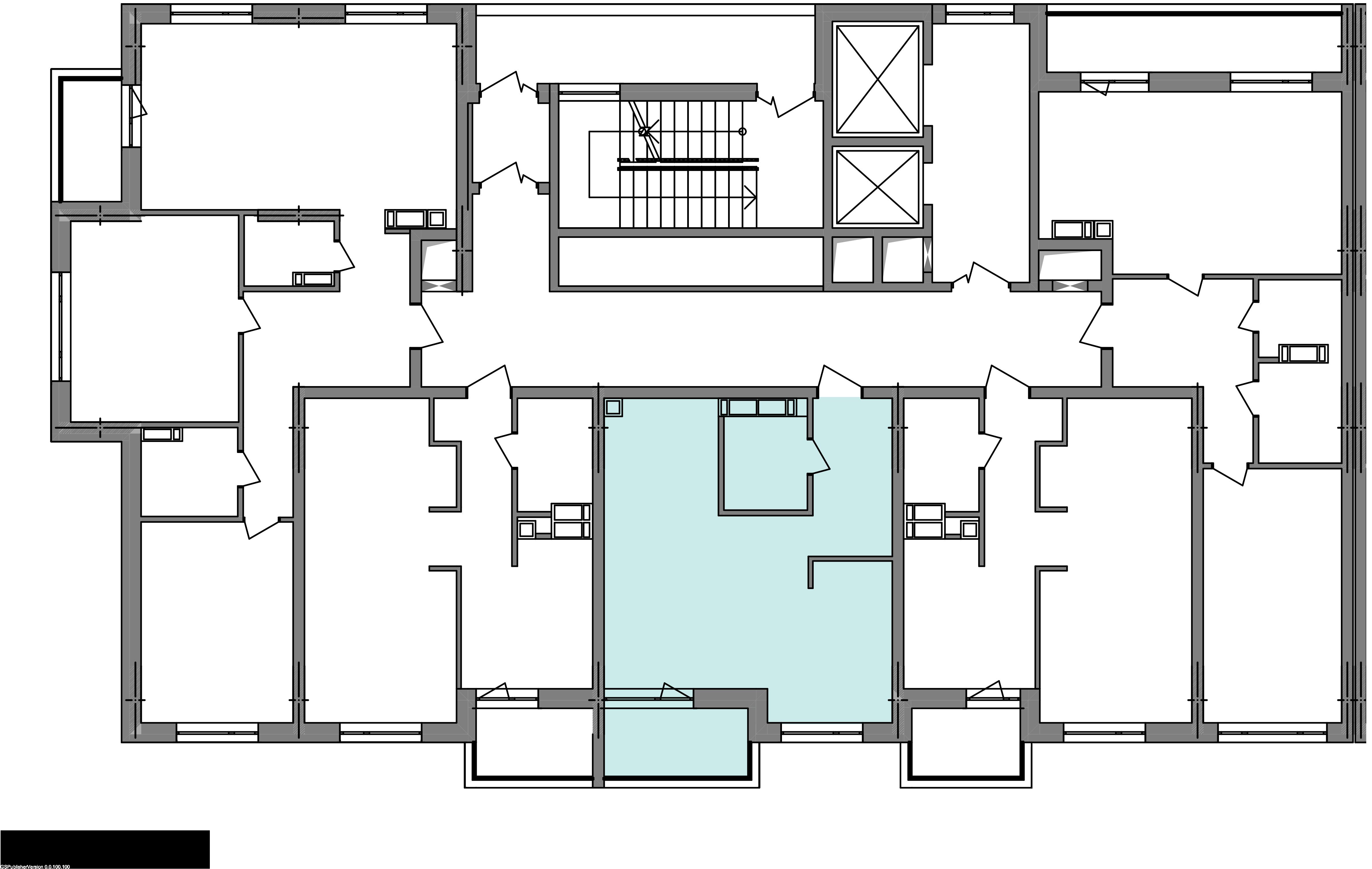 Однокомнатная квартира 41,04 кв.м., тип 1.2, дом 3 секция 1 расположение на этаже