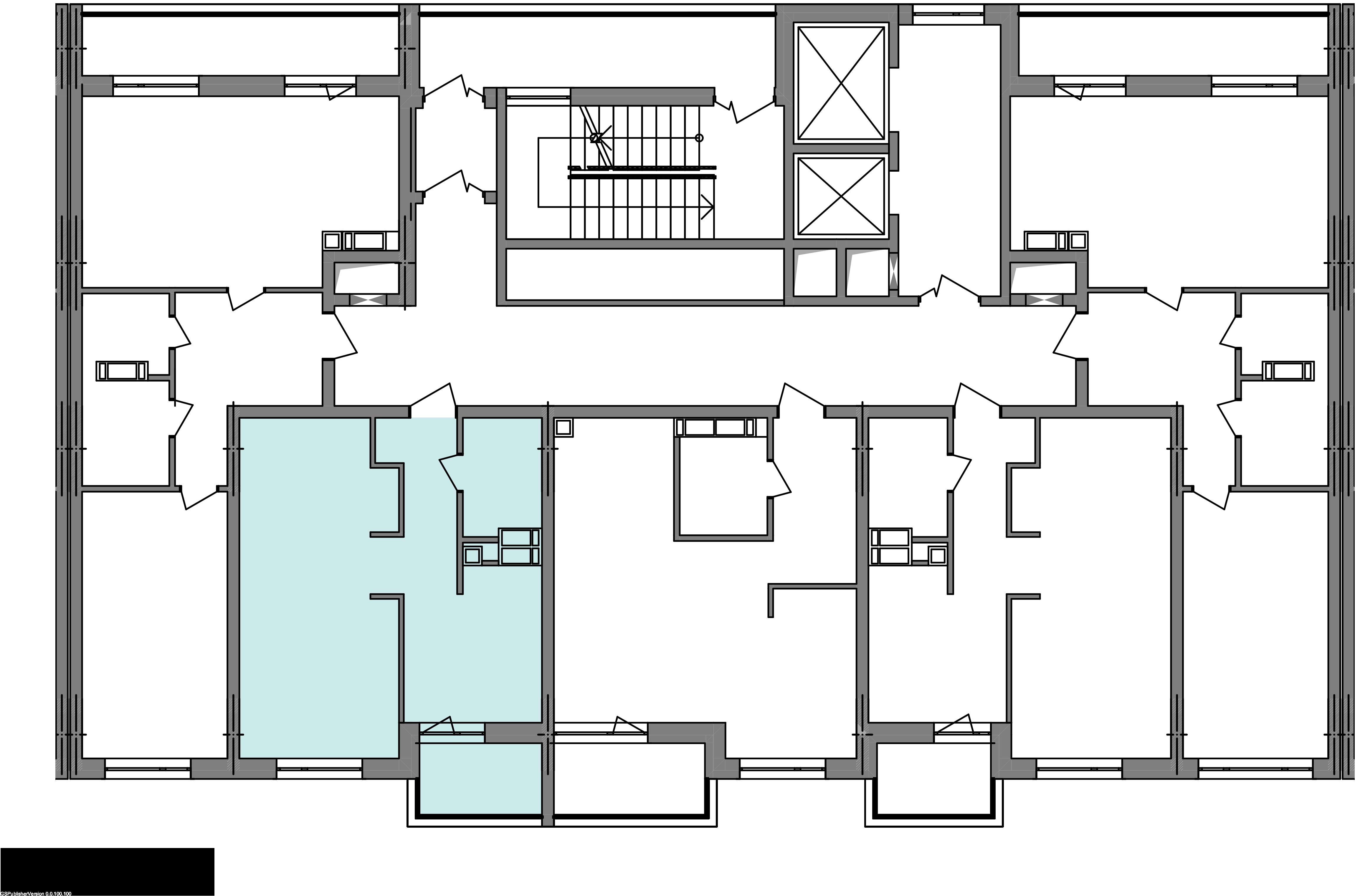 Однокомнатная квартира 40,93 кв.м., тип 1.3, дом 3 секция 2 расположение на этаже