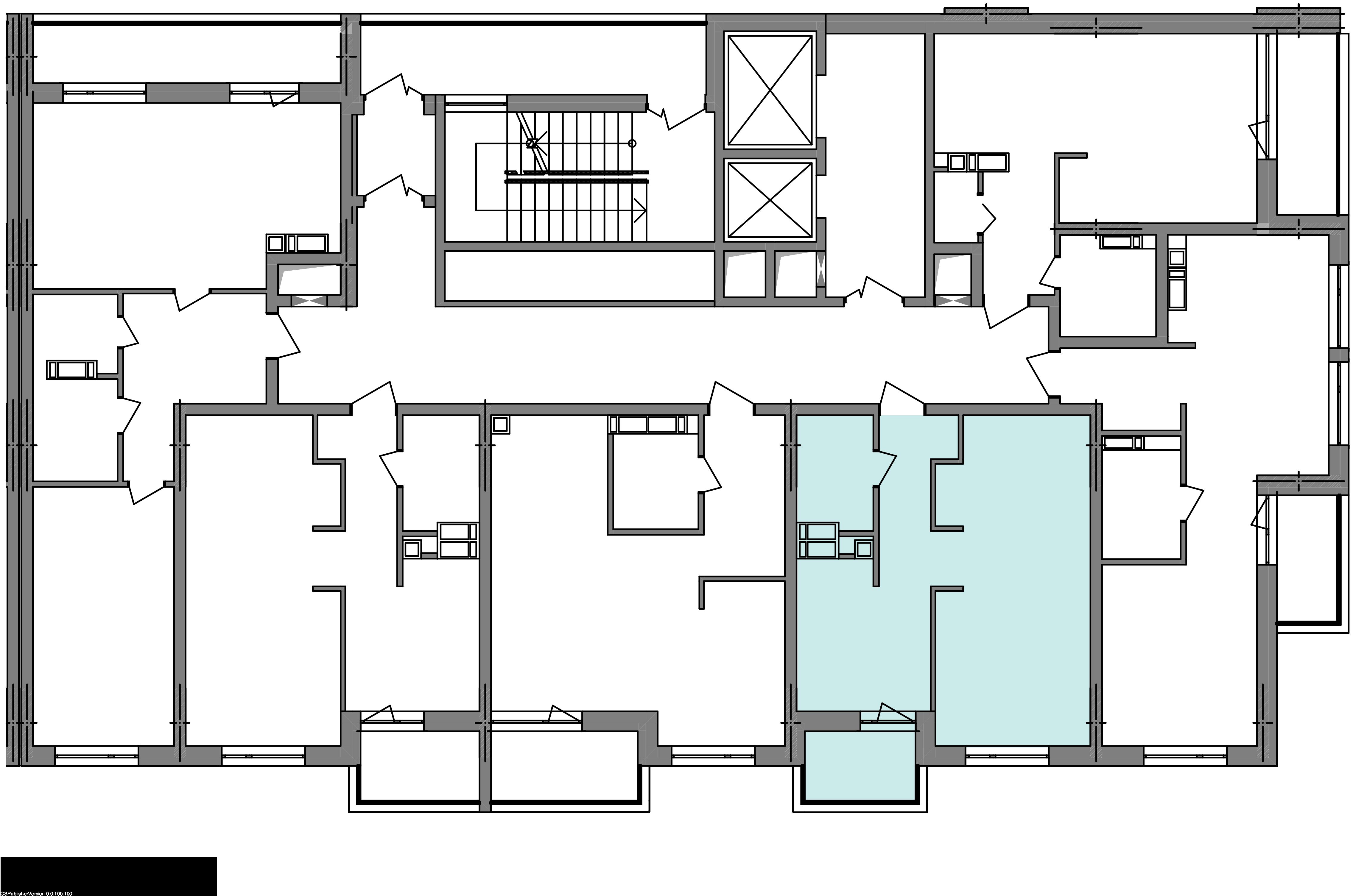 Однокомнатная квартира 40,85 кв.м., тип 1.3, дом 3 секция 3 расположение на этаже