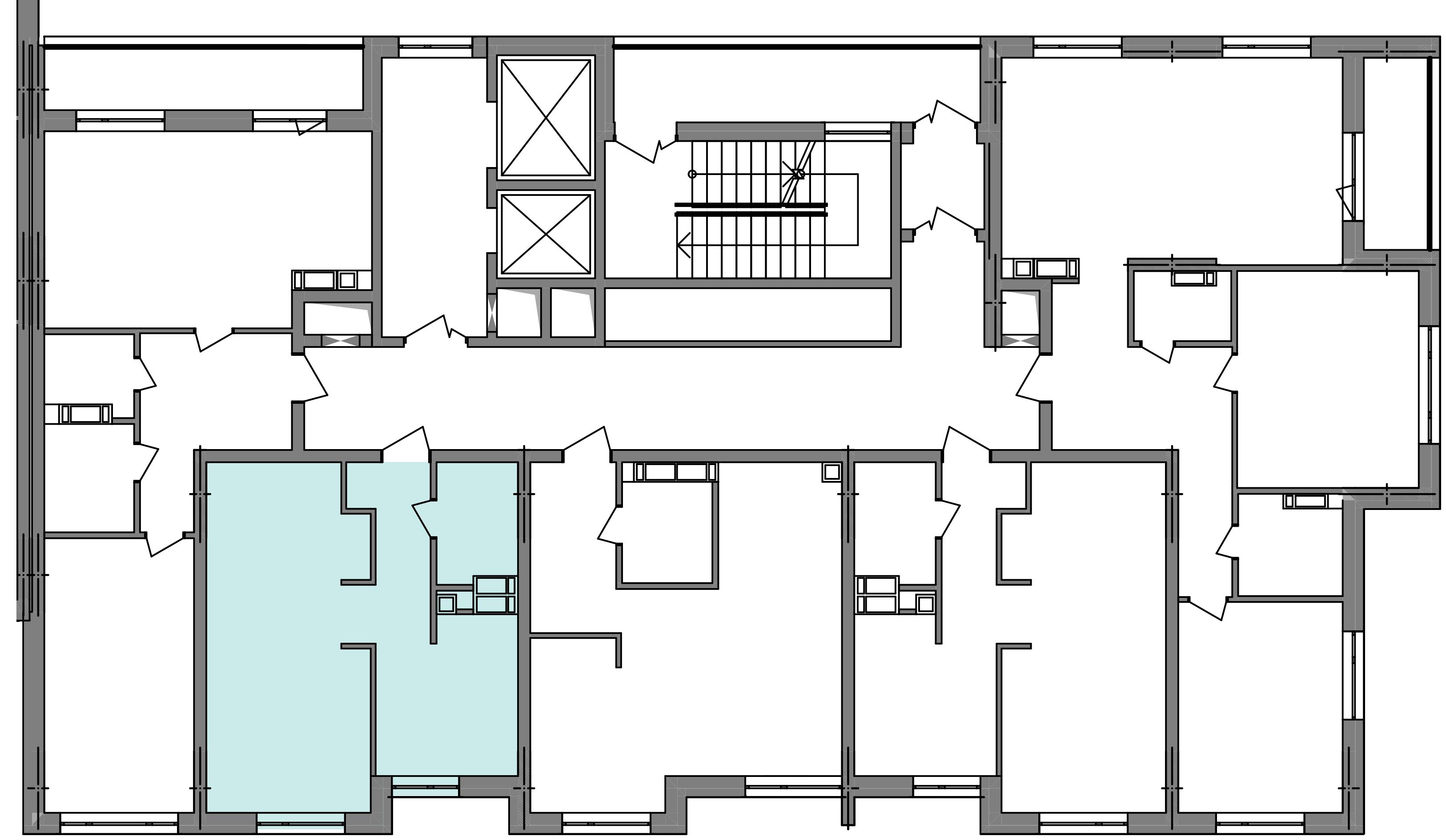 Однокомнатная квартира 39,77 кв.м., тип 1.3, дом 3 секция 5 расположение на этаже