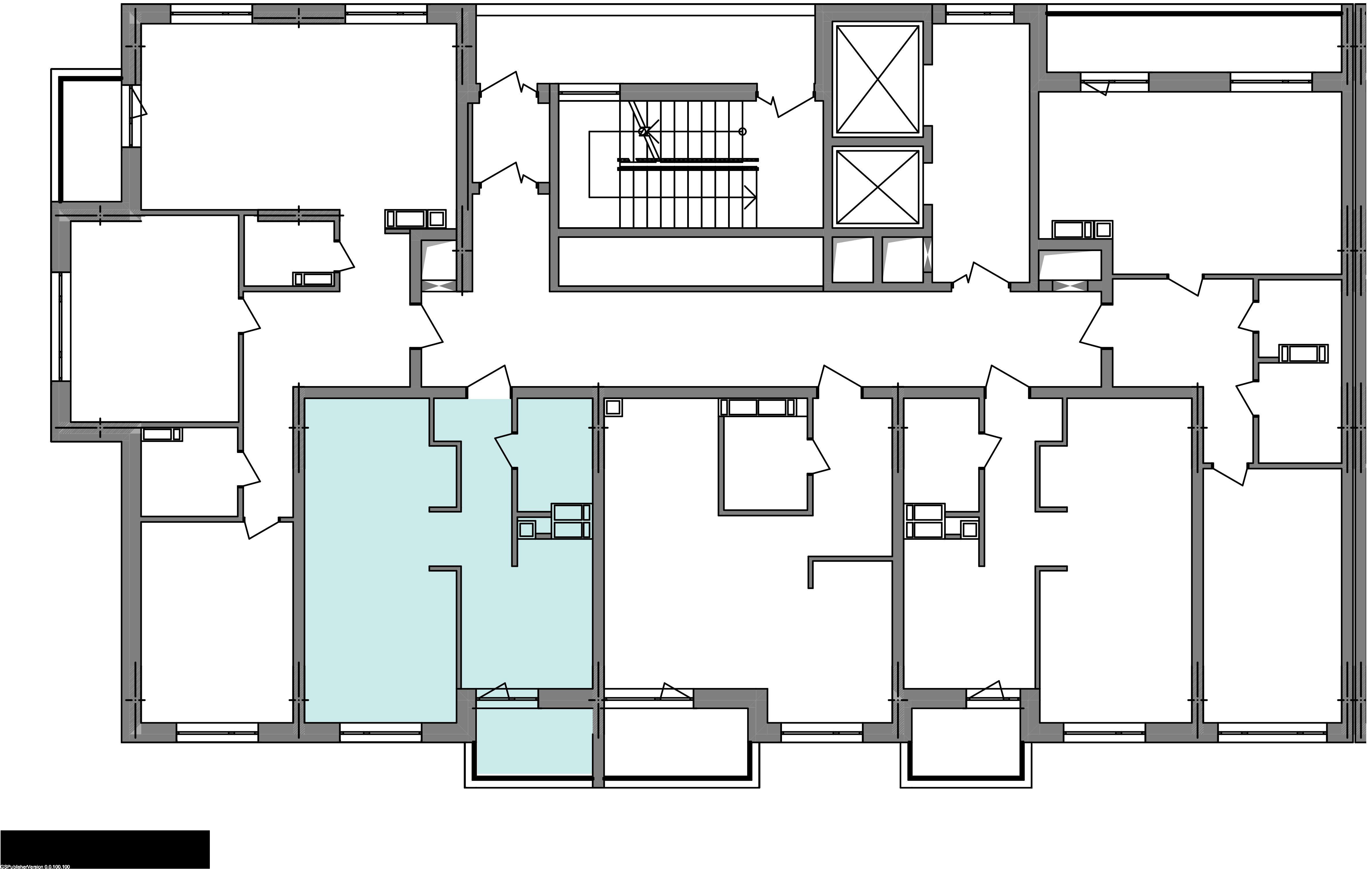 Однокімнатна квартира 40,91 кв.м., тип 1.3, будинок 3 секція 1 розташування на поверсі