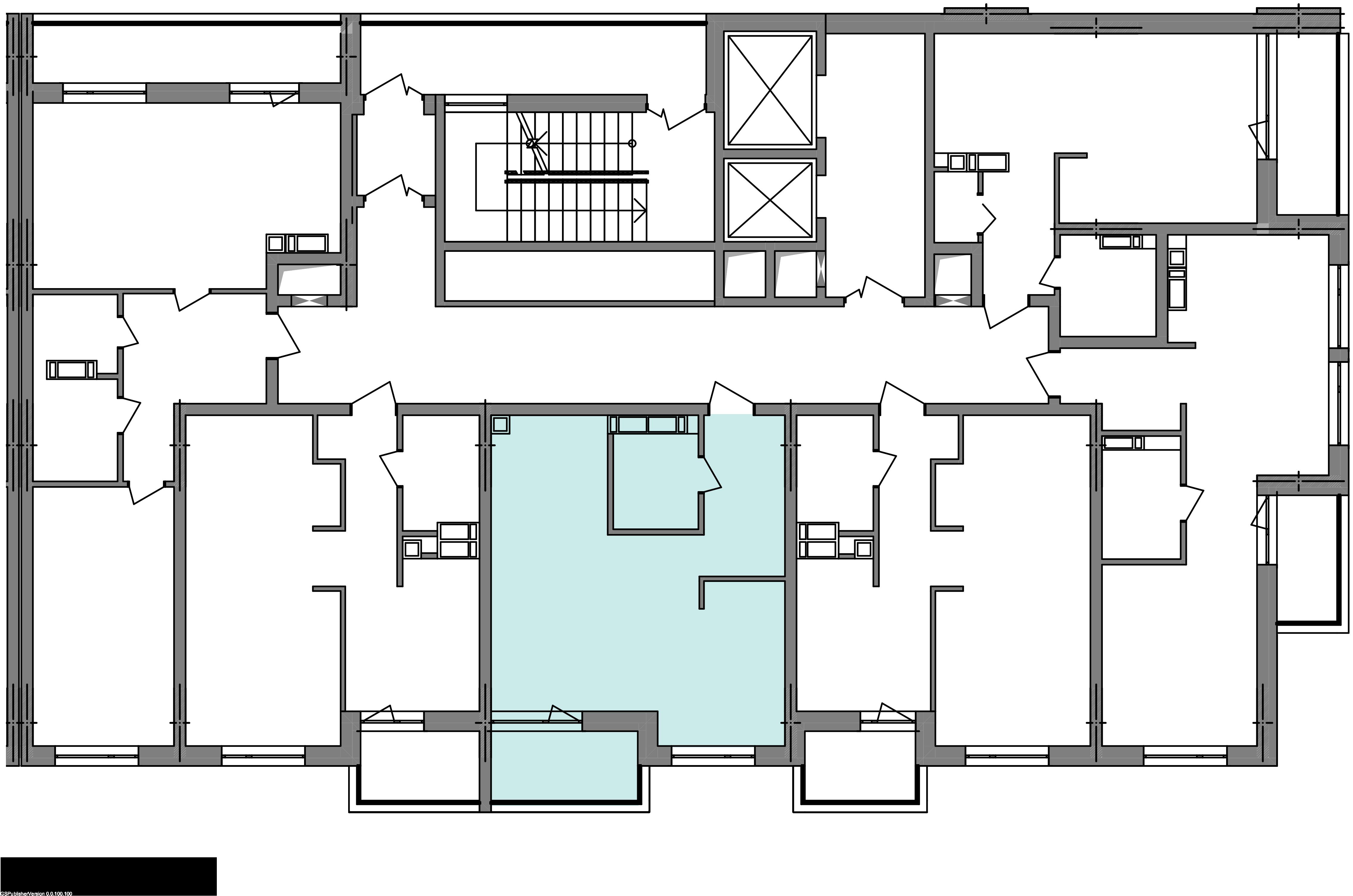 Однокомнатная квартира 41,13 кв.м., тип 1.4, дом 3 секция 3 расположение на этаже