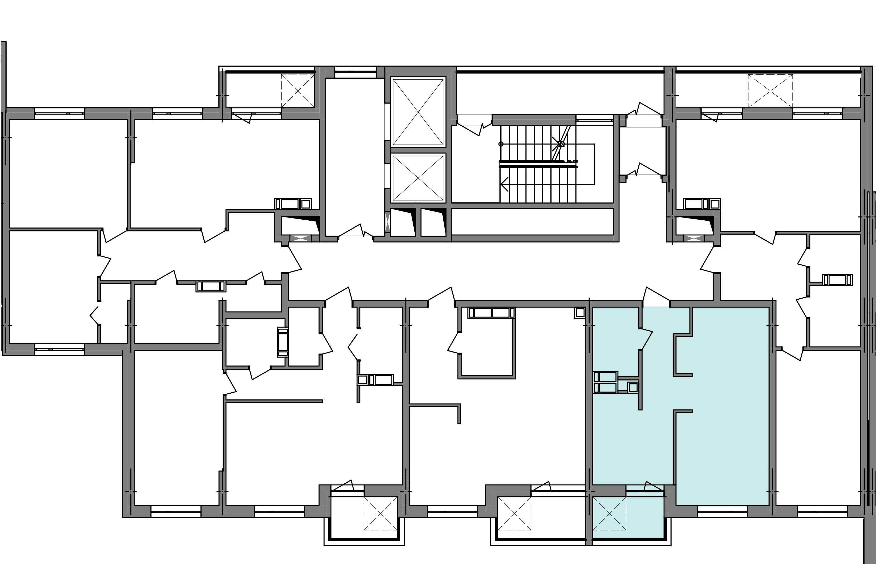 Однокомнатная квартира 40,50 кв.м., тип 1.4, дом 3 секция 4 расположение на этаже
