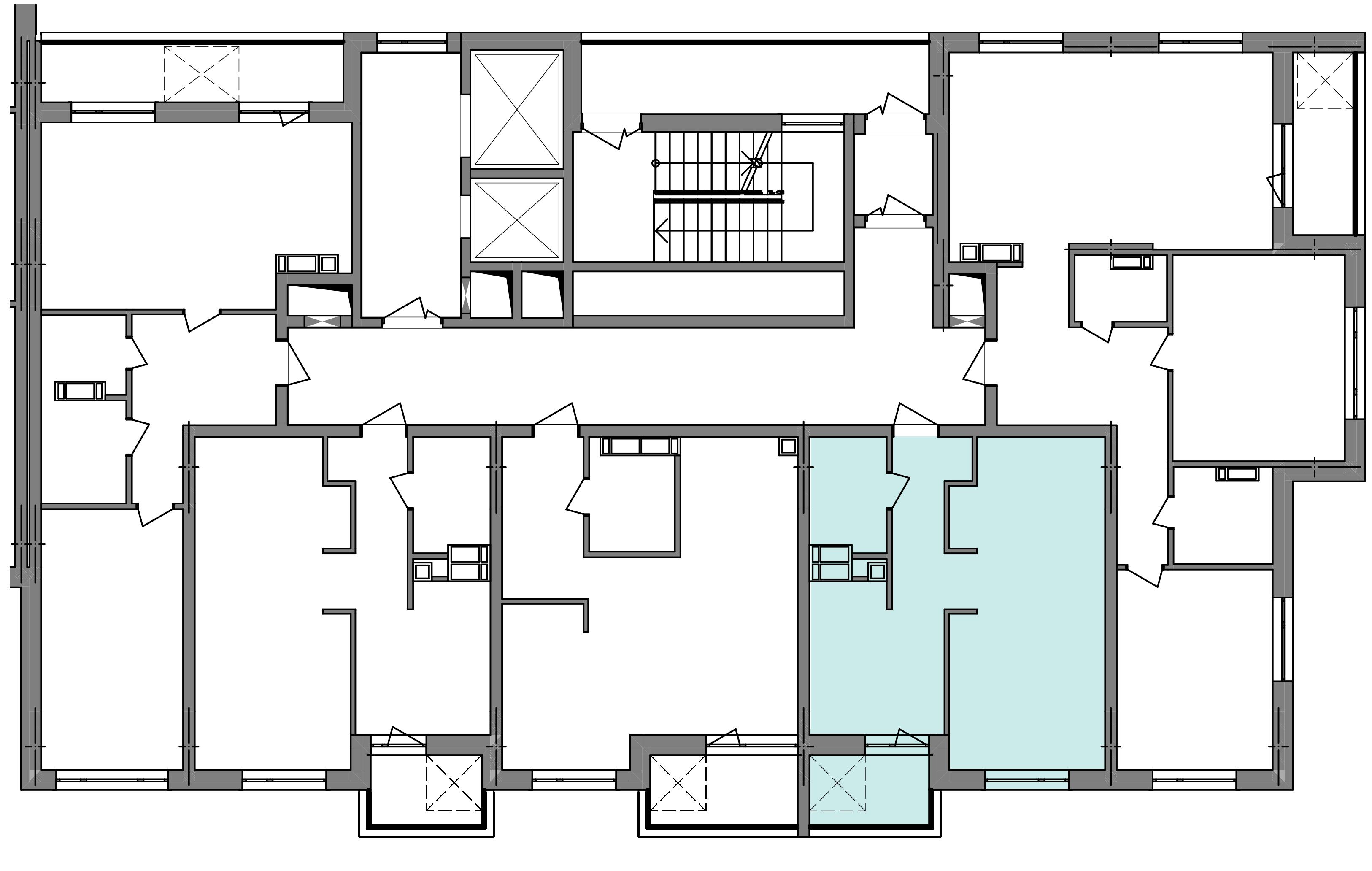 Однокомнатная квартира 40,50 кв.м., тип 1.4, дом 3 секция 5 расположение на этаже