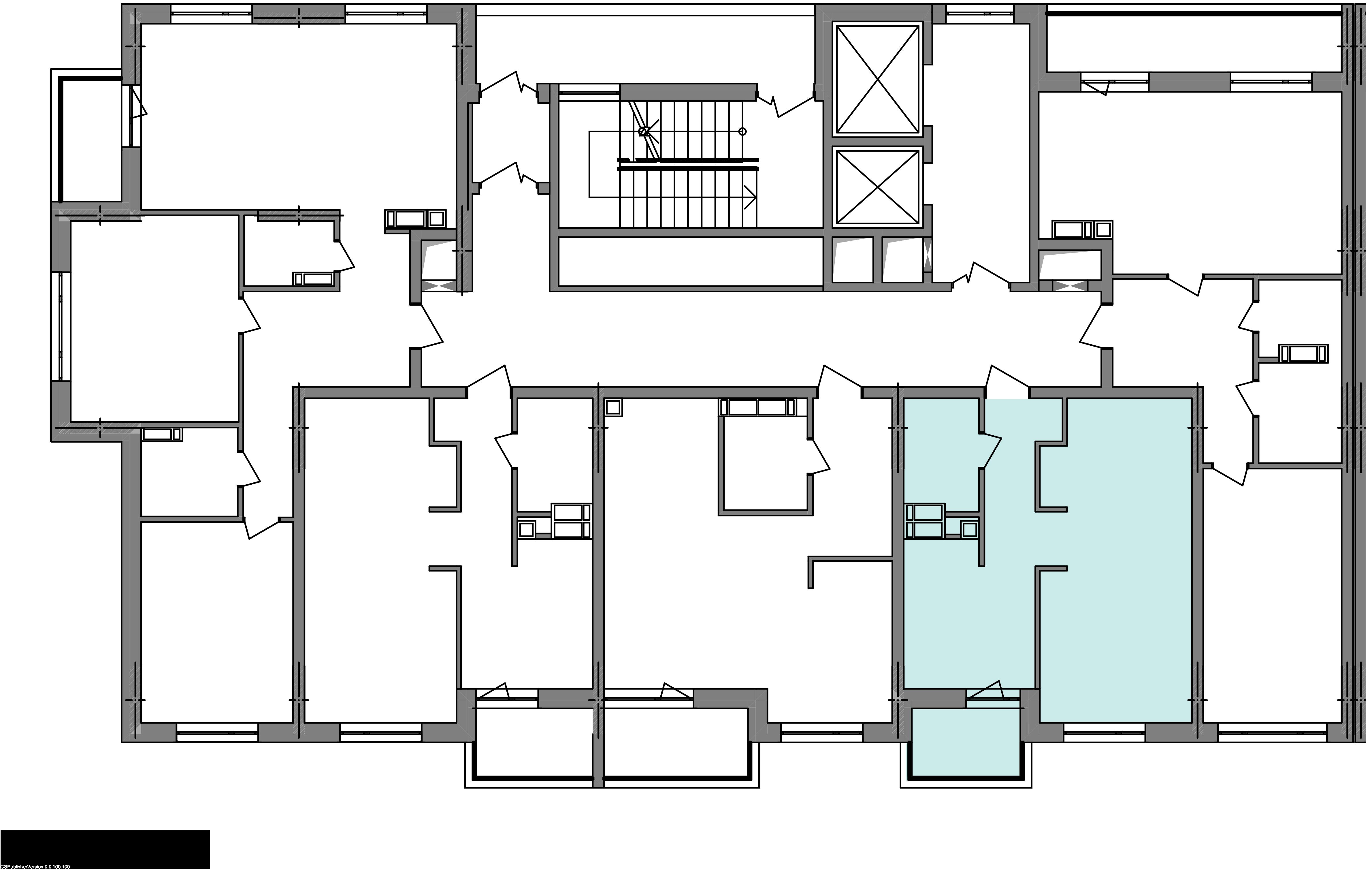 Однокомнатная квартира 40,42 кв.м., тип 1.4, дом 3 секция 1 расположение на этаже