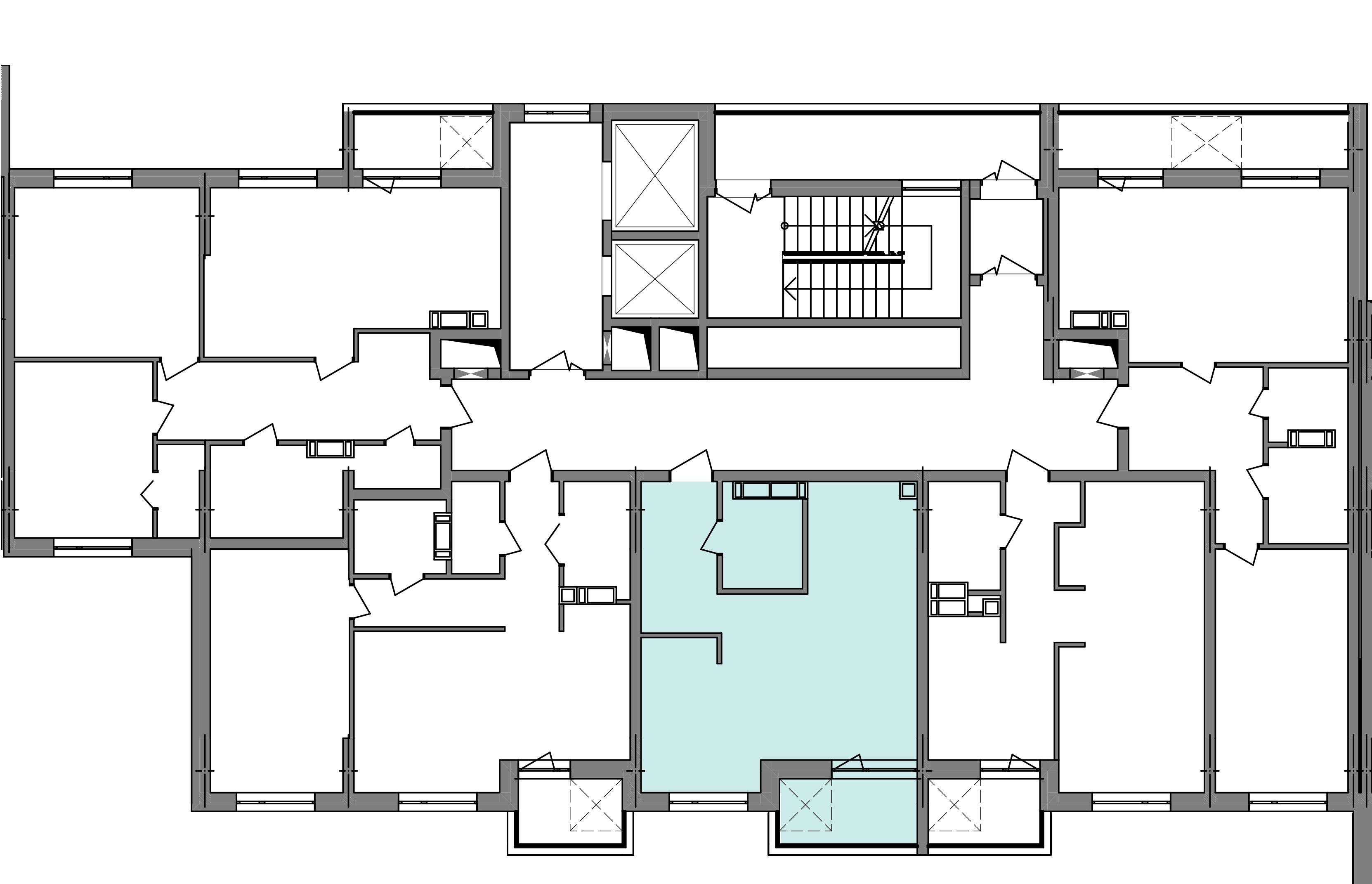 Однокімнатна квартира 40,63 кв.м., тип 1.5, будинок 3 секція 4 розташування на поверсі