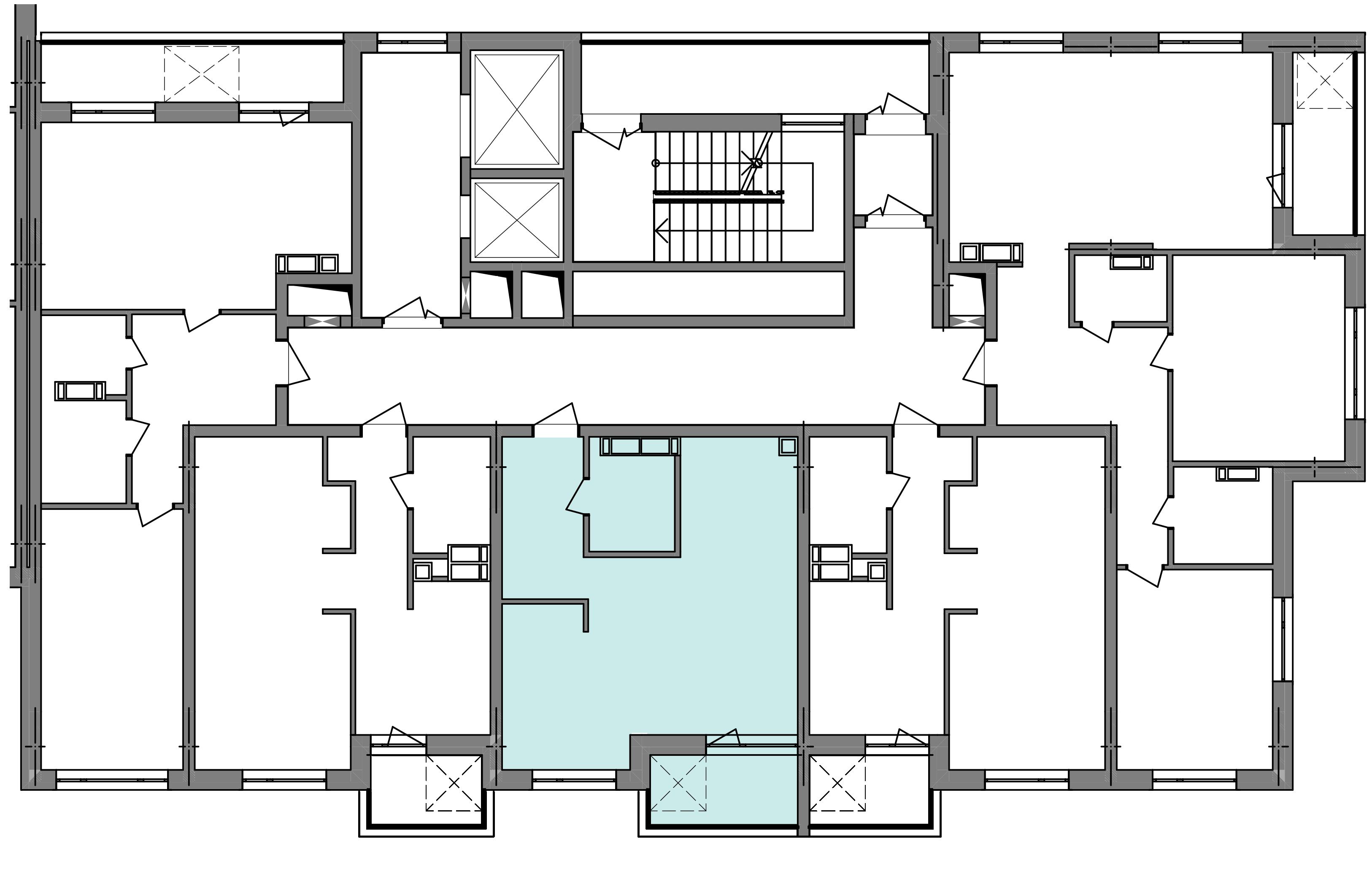 Однокімнатна квартира 40,71 кв.м., тип 1.5, будинок 3 секція 5 розташування на поверсі