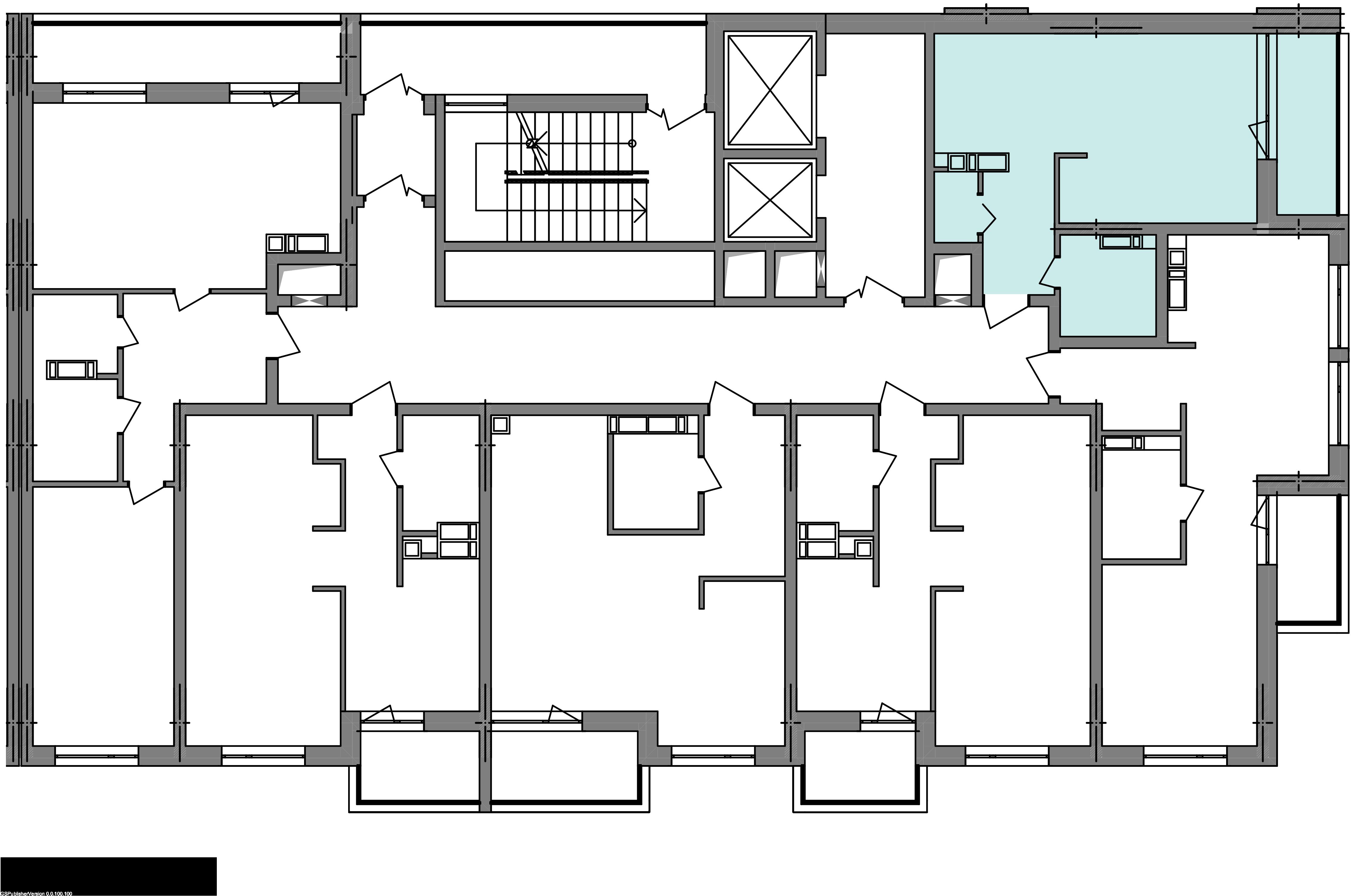 Однокомнатная квартира 35,47 кв.м., тип 1.6, дом 3 секция 3 расположение на этаже