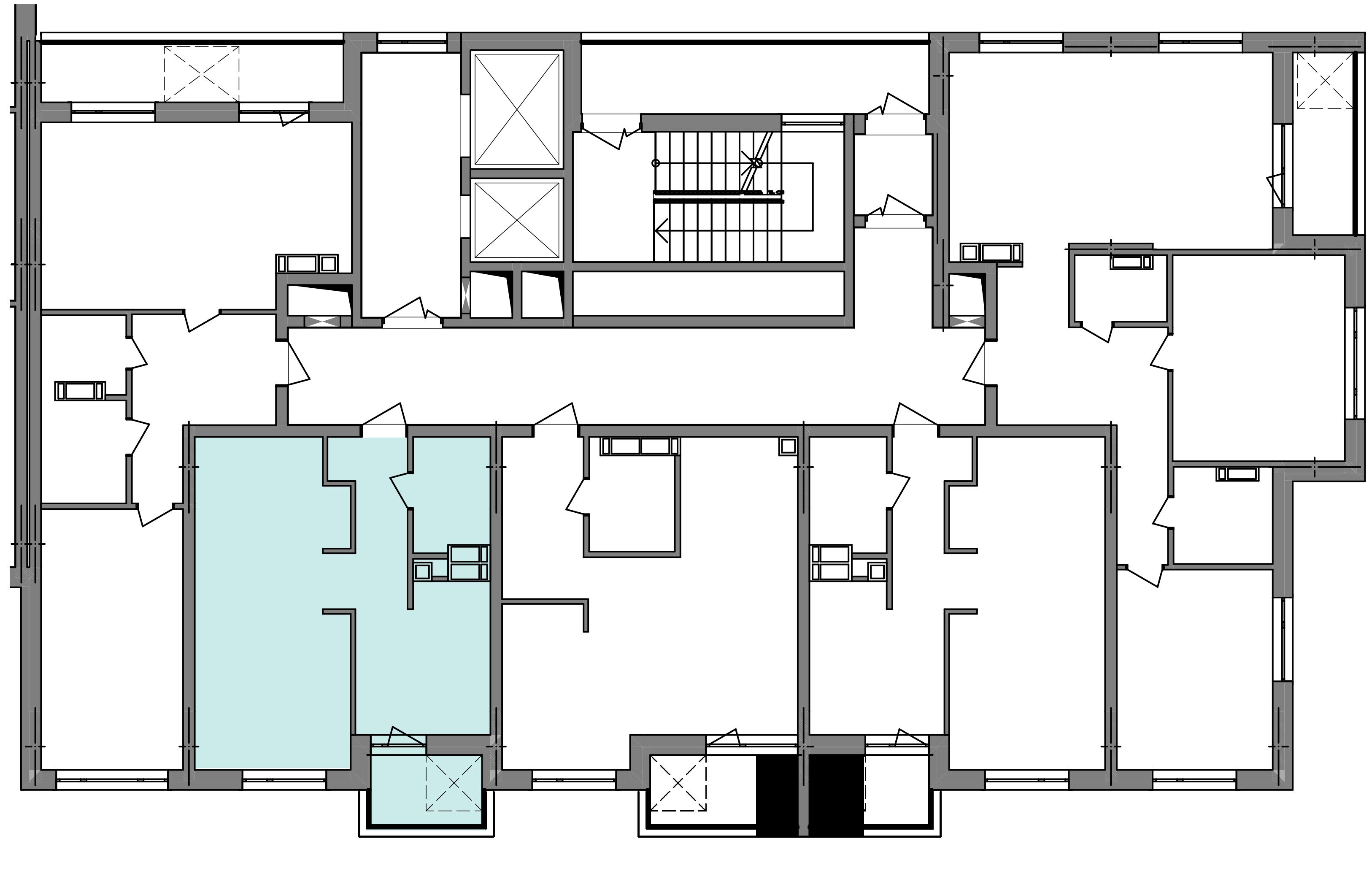 Однокімнатна квартира 40,42 кв.м., тип 1.6, будинок 3 секція 5 розташування на поверсі