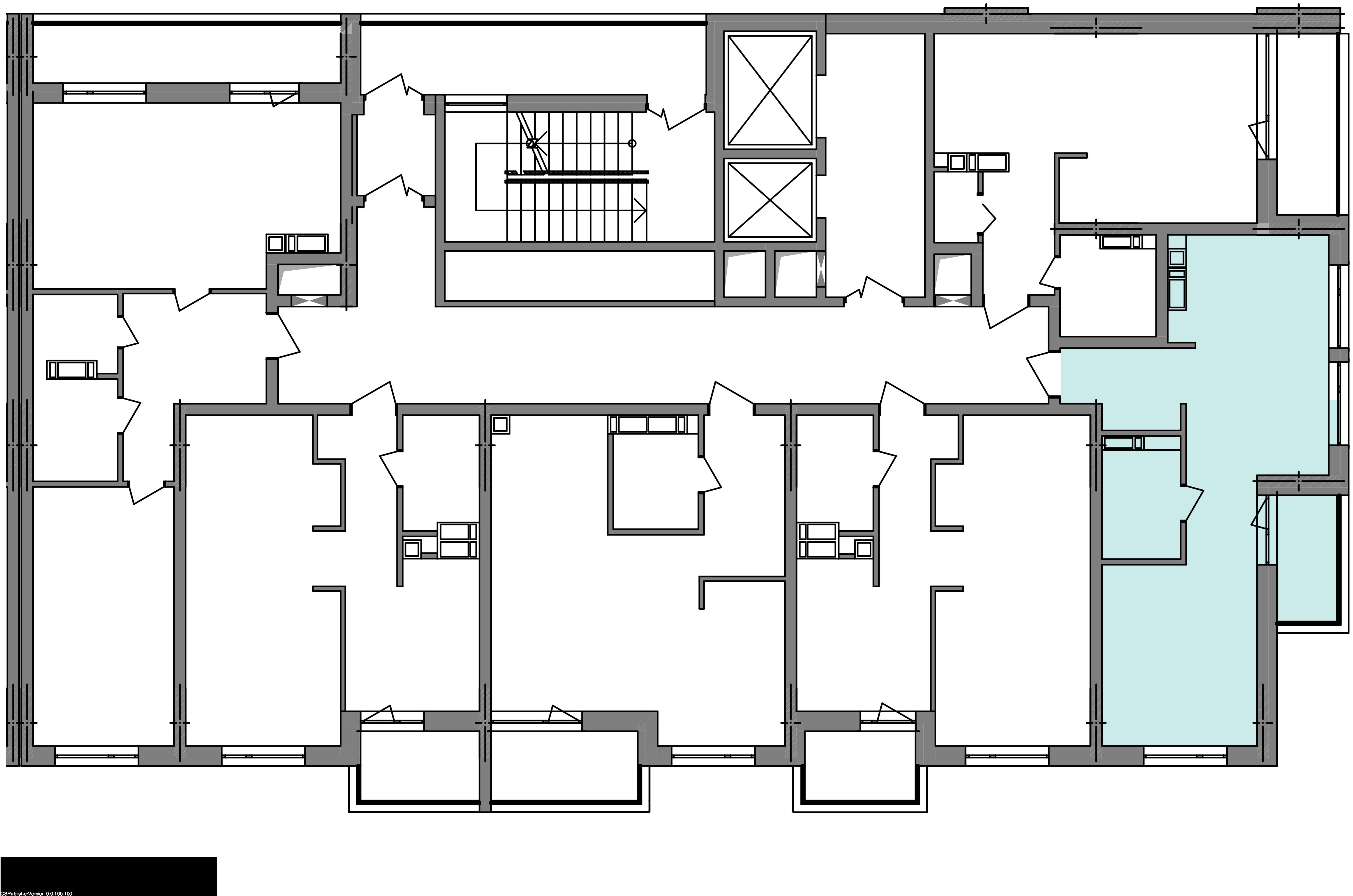 Однокімнатна квартира 40,29 кв.м., тип 1.7, будинок 3 секція 3 розташування на поверсі