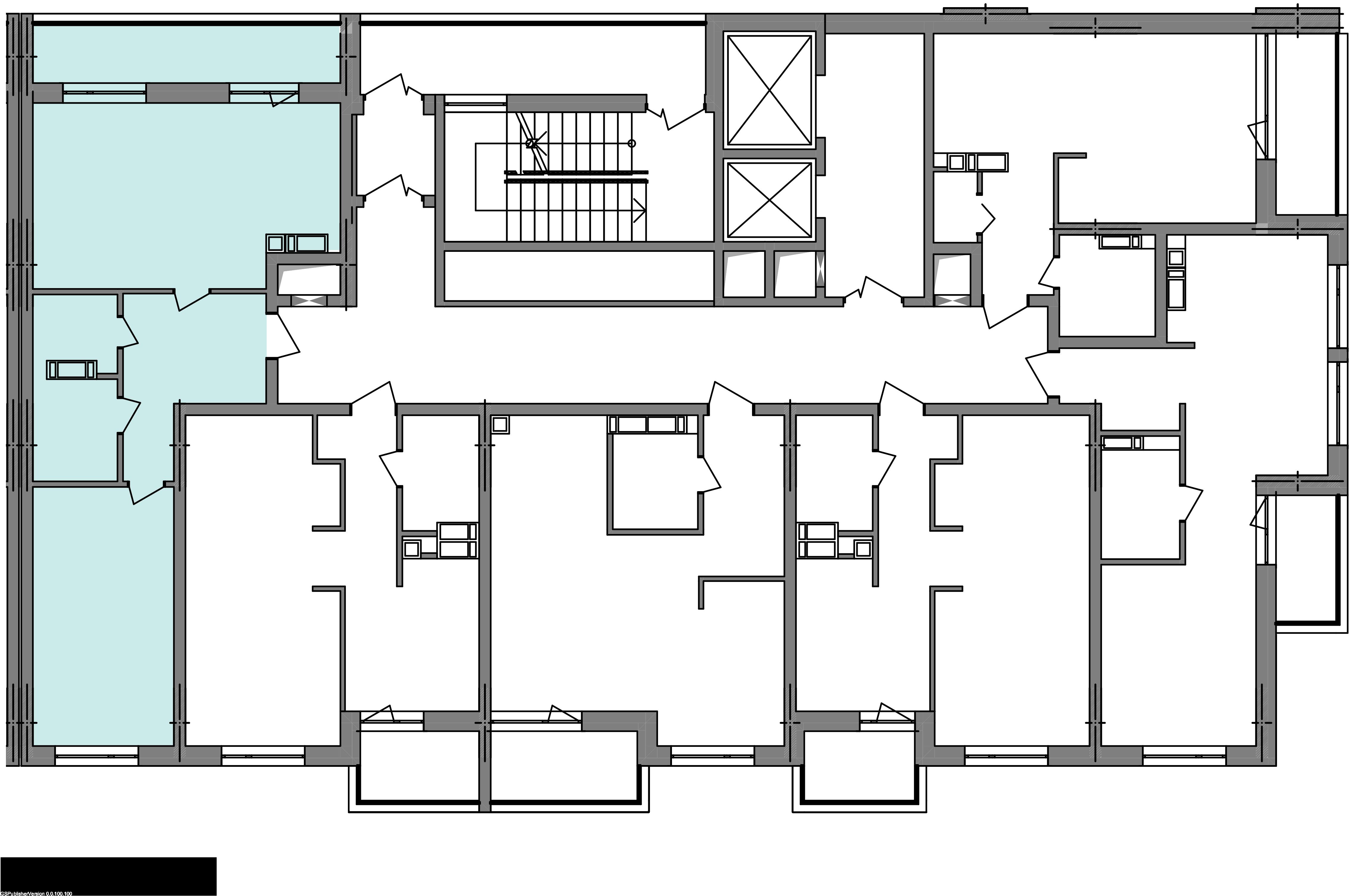 Двокімнатна квартира 60,72 кв.м., тип 2.1, будинок 3, секція 3 розташування на поверсі