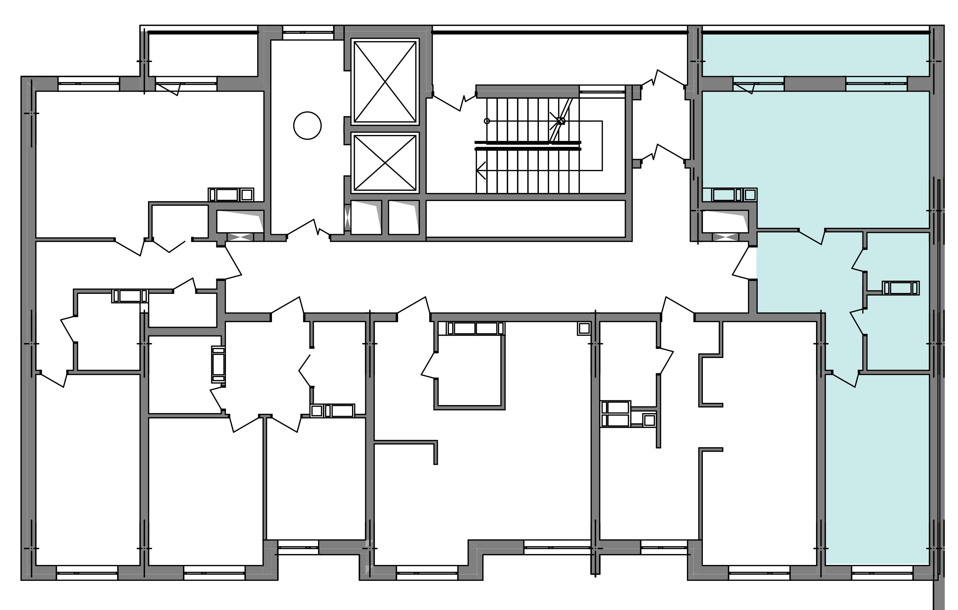 Двухкомнатная квартира 60,72 кв.м., тип 2.1, дом 3, секция 4 расположение на этаже