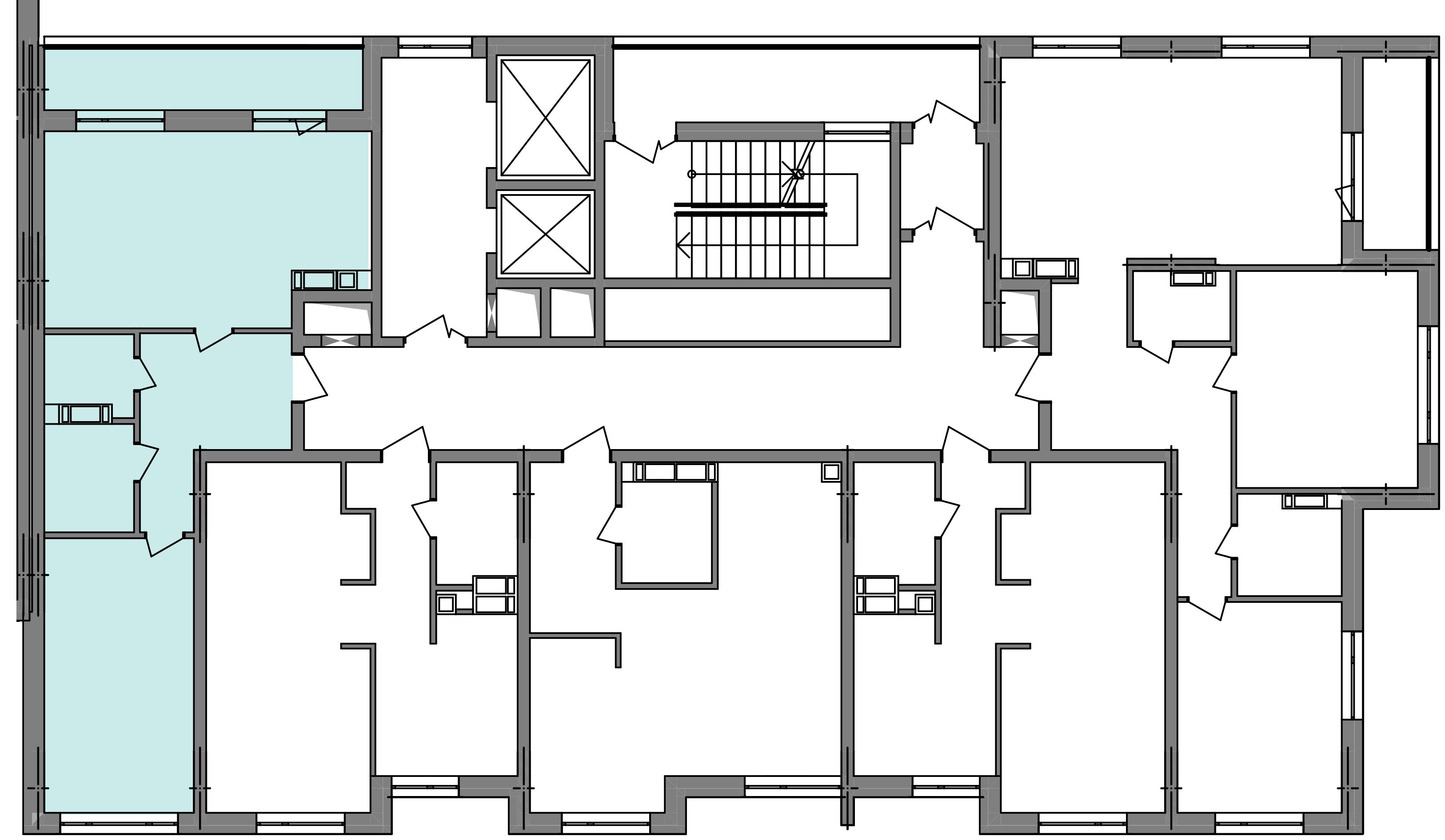 Двухкомнатная квартира 60,68 кв.м., тип 2.1, дом 3, секция 5 расположение на этаже