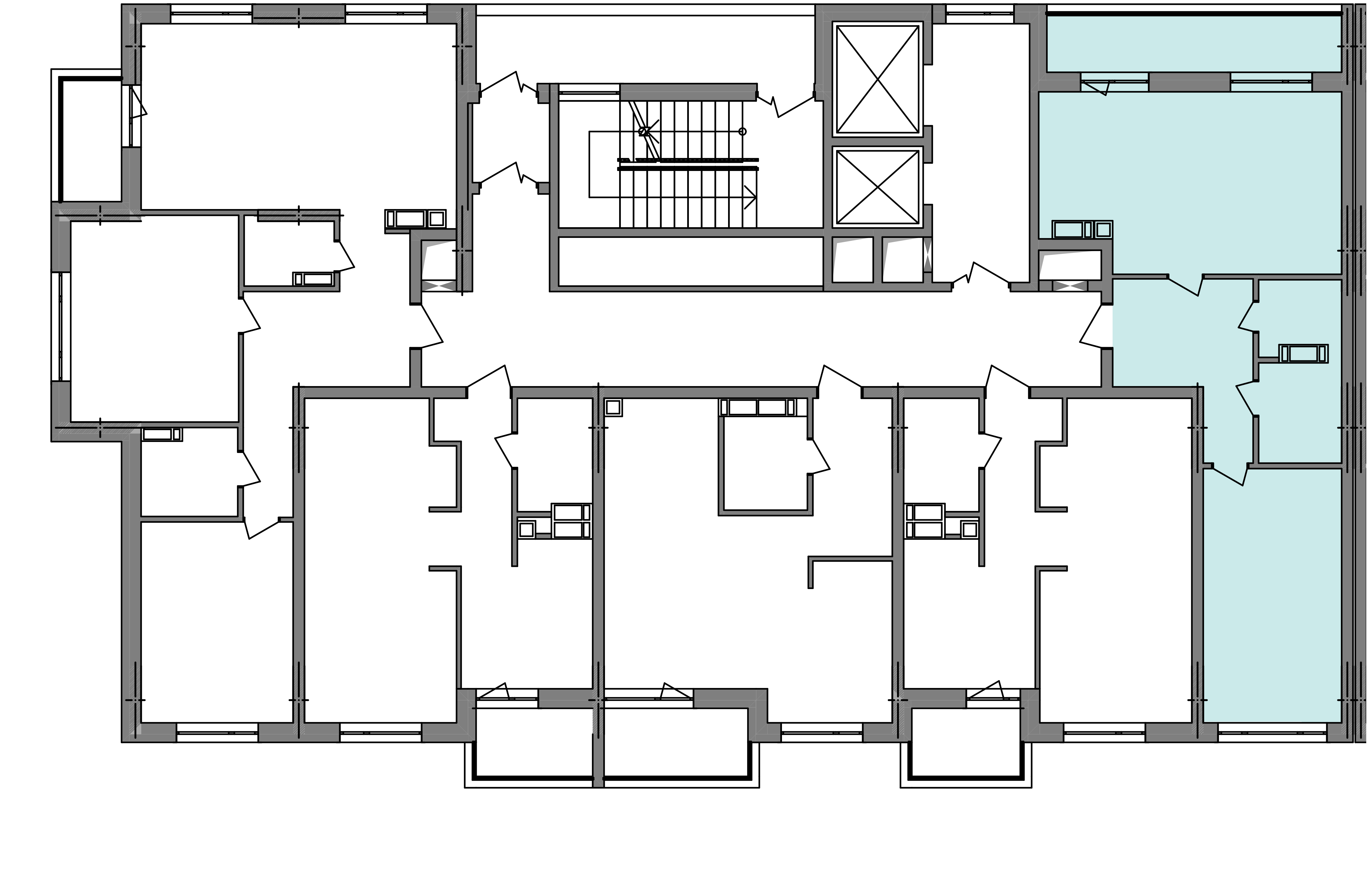 Двокімнатна квартира 60,69 кв.м., тип 2.1, будинок 2, секція 5 розташування на поверсі