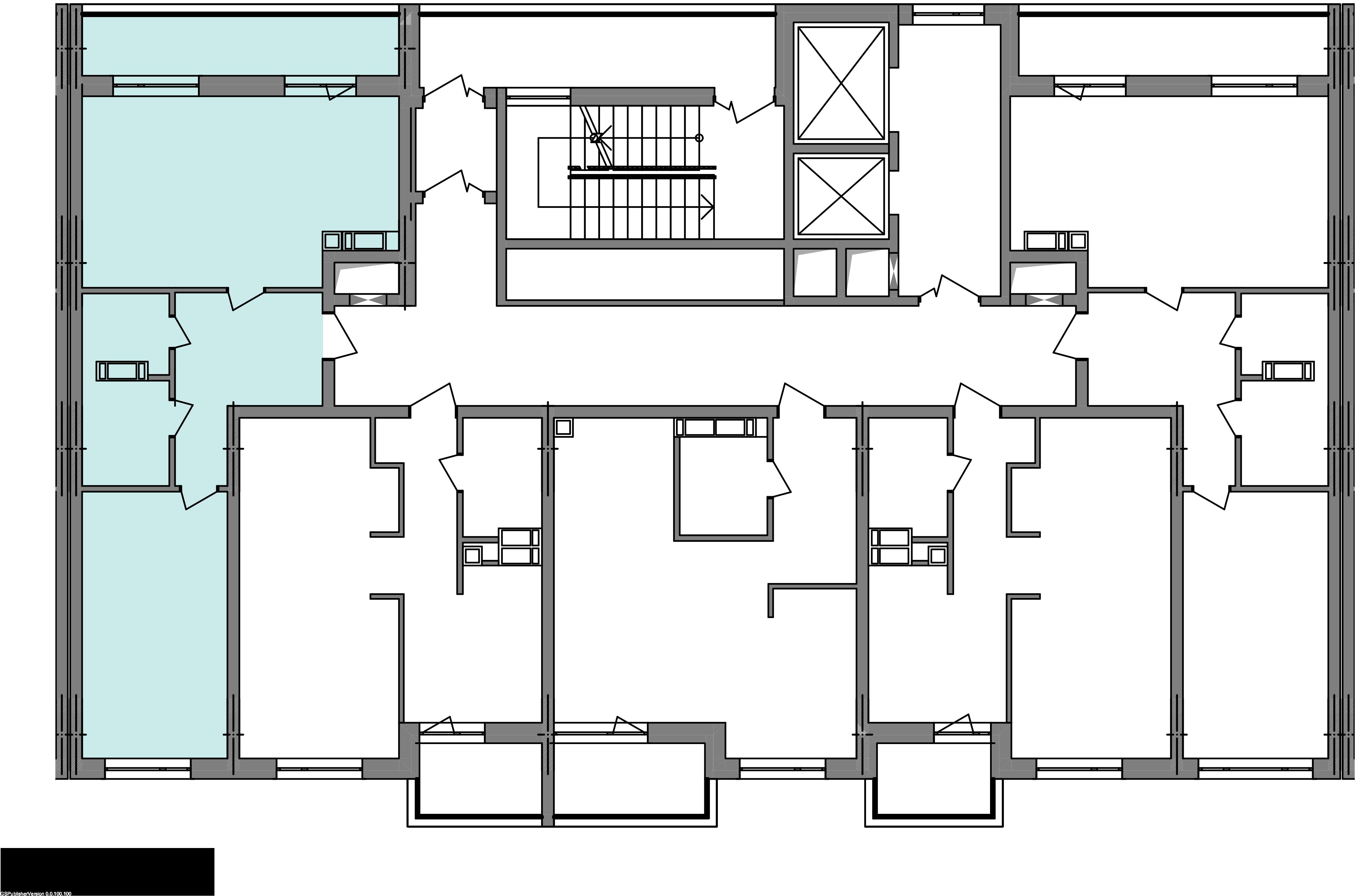 Двокімнатна квартира 60,72 кв.м., тип 2.2, будинок 2, секція 5 розташування на поверсі