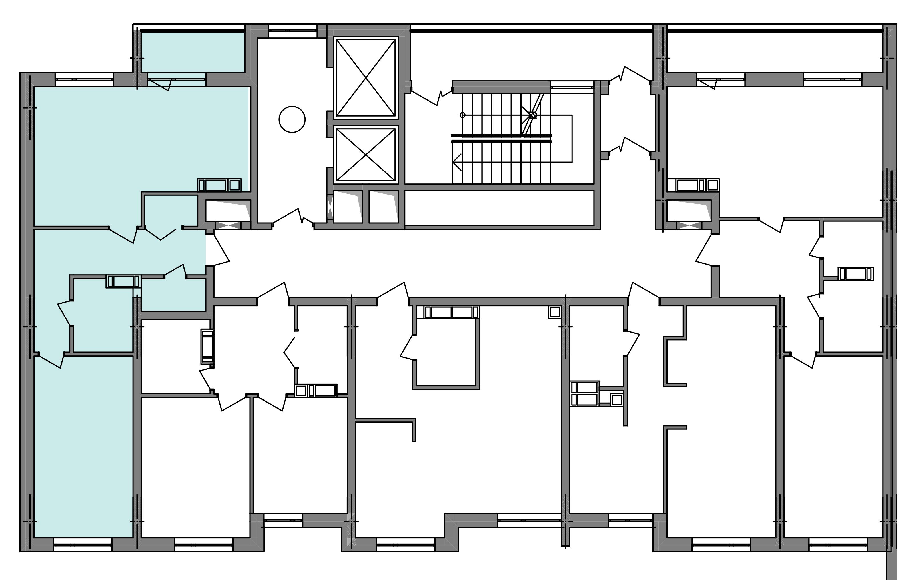 Двокімнатна квартира 59,48 кв.м., тип 2.2, будинок 3, секція 4 розташування на поверсі