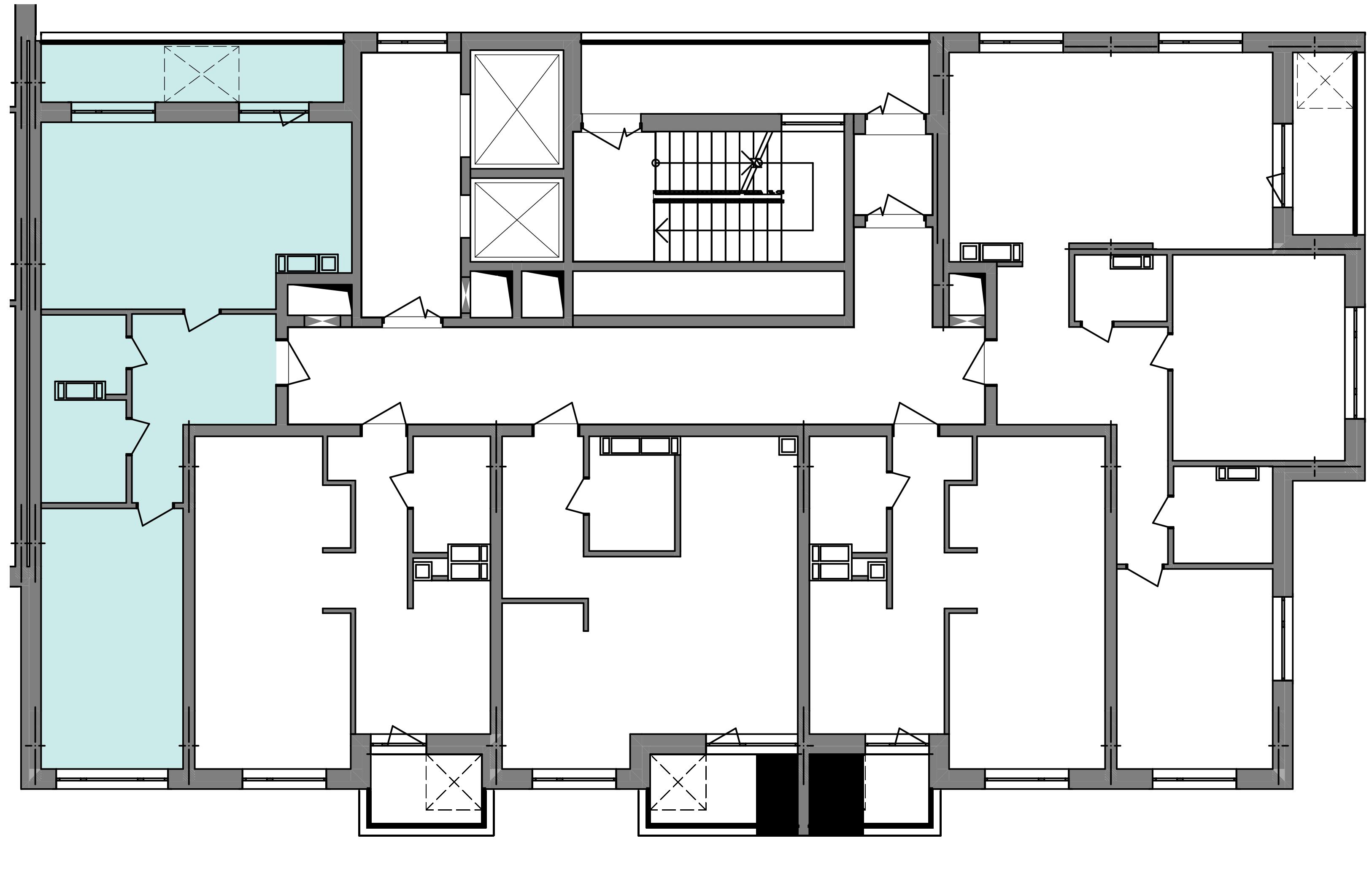 Двухкомнатная квартира 59,72 кв.м., тип 2.2, дом  3, секция 5 расположение на этаже