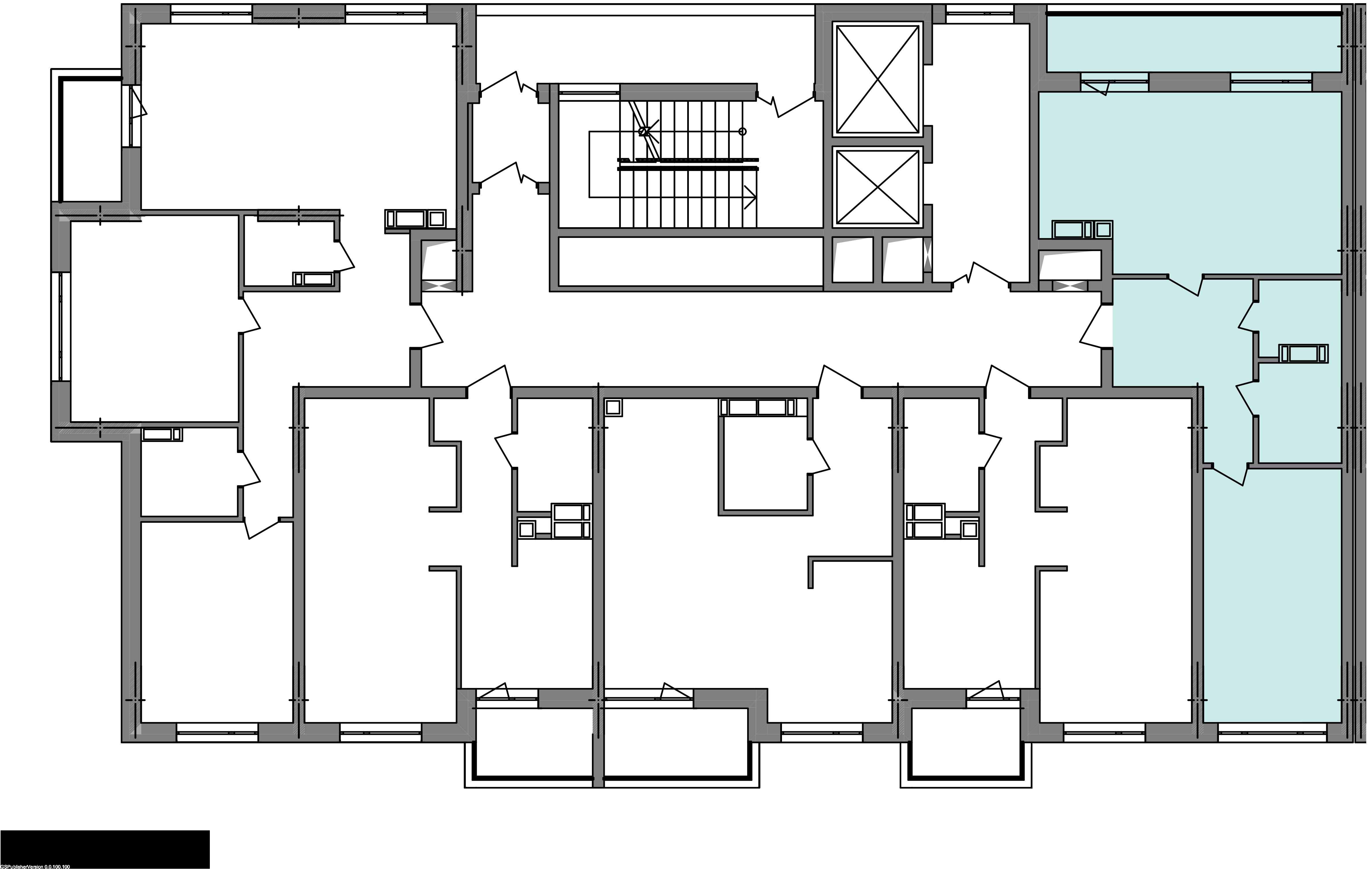Двокімнатна квартира 59,73 кв.м., тип 2.2, будинок 3, секція 5 розташування на поверсі