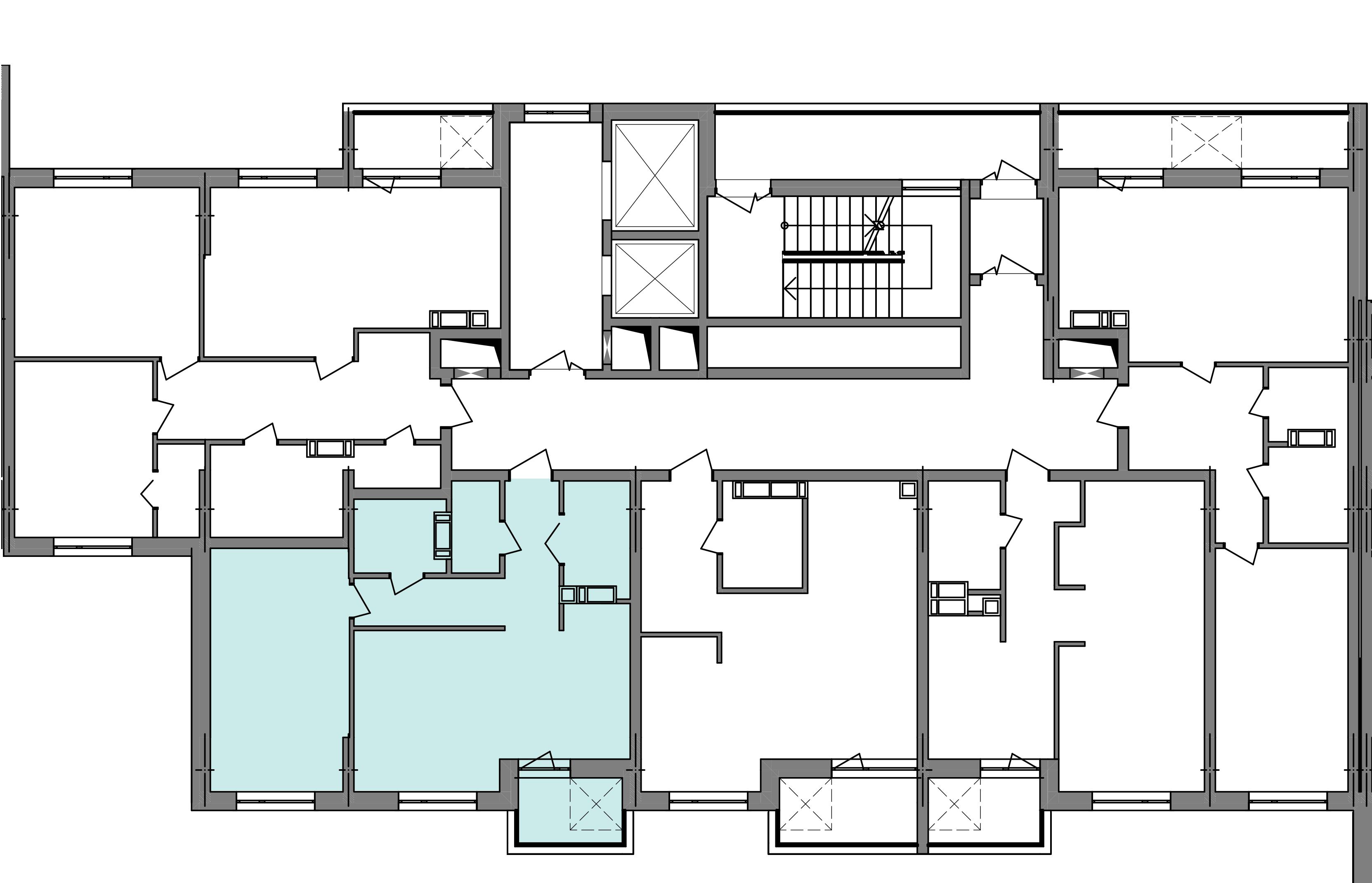 Двокімнатна квартира 56,31 кв.м., тип 2.4, будинок 3, секція 4 розташування на поверсі
