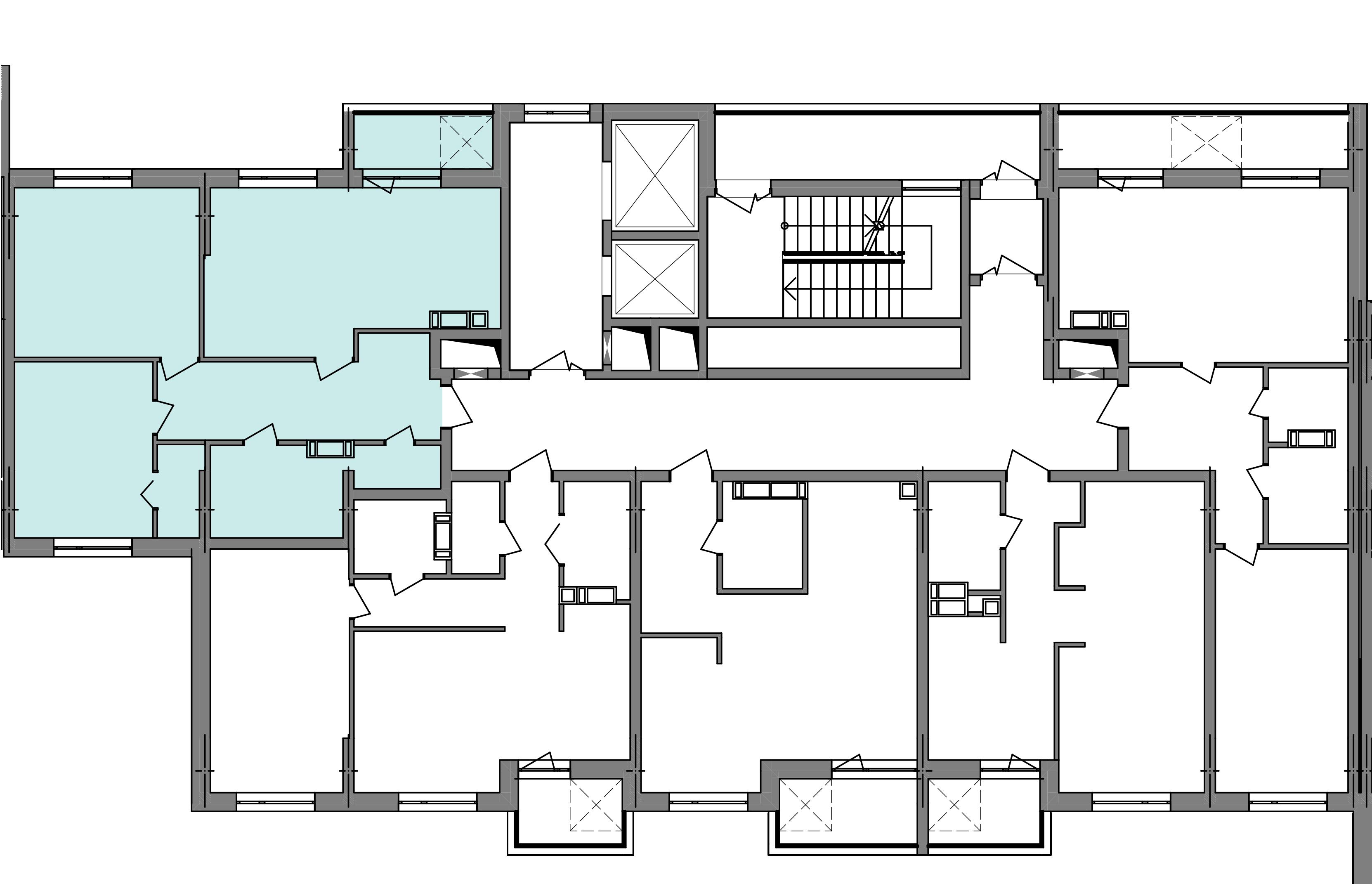 Трехкомнатная квартира 74,94 кв.м., тип 3.1, дом  3, секция 4 расположение на этаже