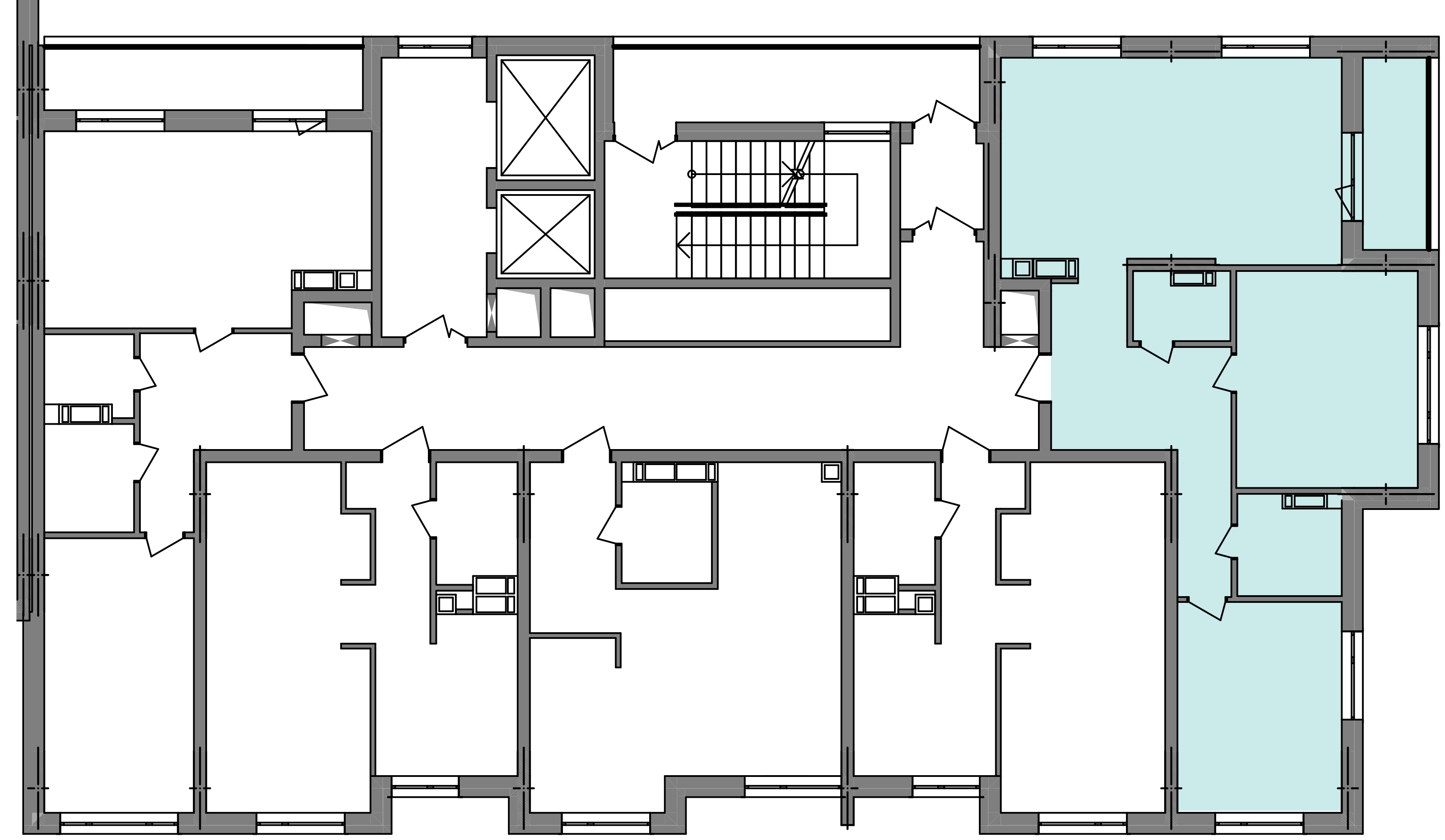 Трикімнатна квартира 80,46 кв.м., тип 3.1, будинок 3, секція 4 розташування на поверсі