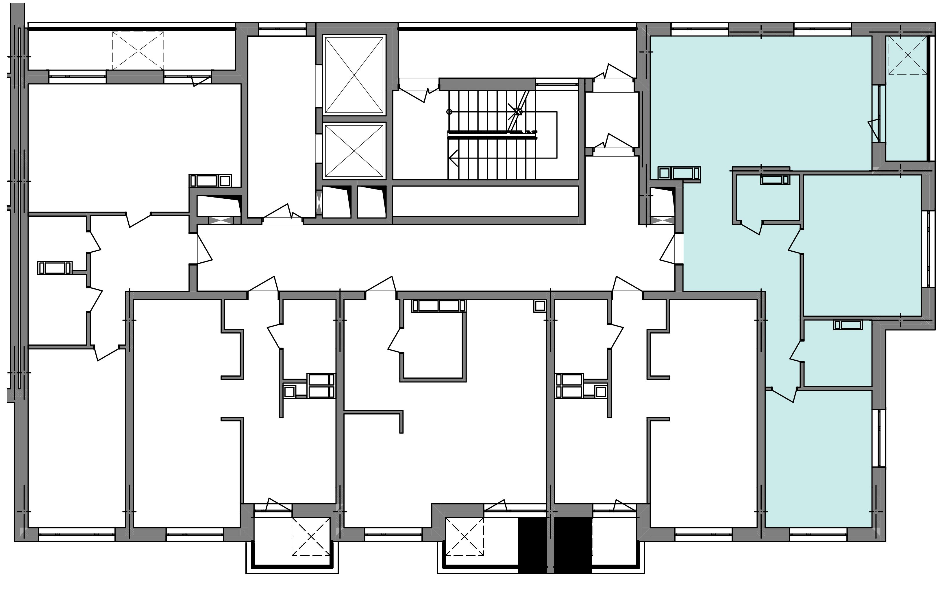 Трикімнатна квартира 79,68 кв.м., тип 3.2, будинок 3, секція 5 розташування на поверсі