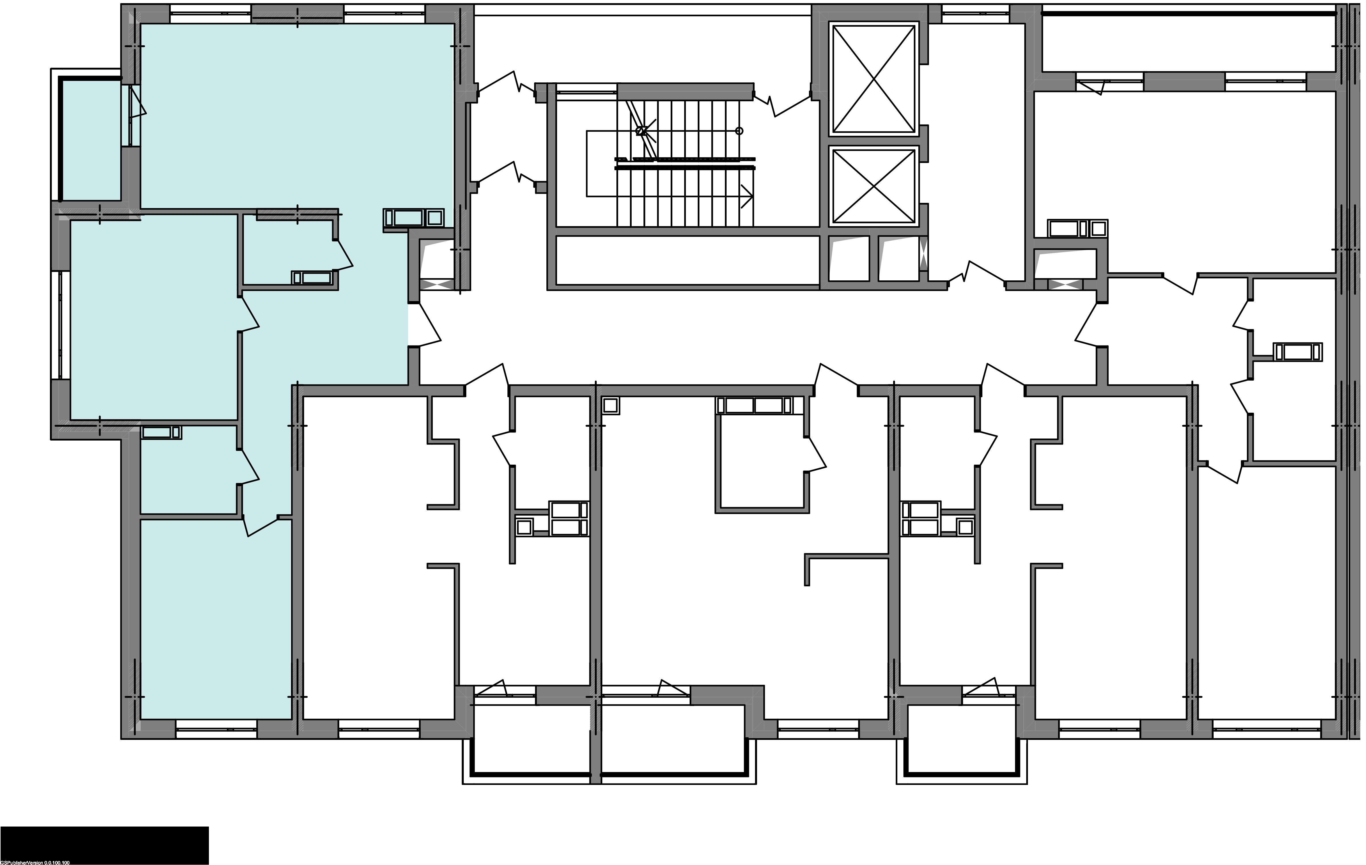 Трехкомнатная квартира 78,31 кв.м., тип 3.2, дом  3, секция 1 расположение на этаже
