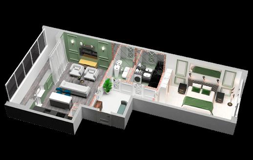 3D Планировка Голосеевская долина